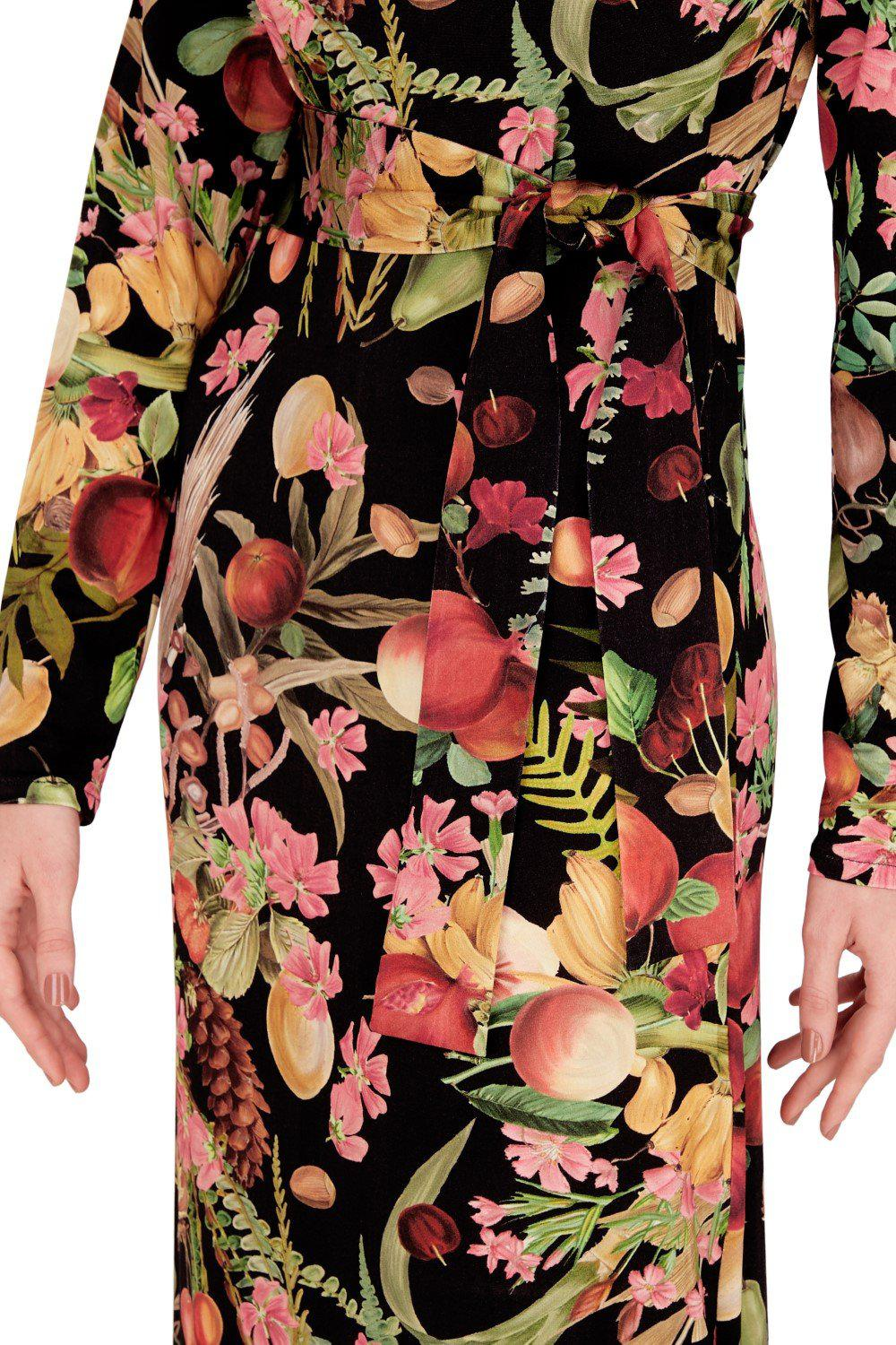 Fruits Exotiques Long Dress with Frills 3