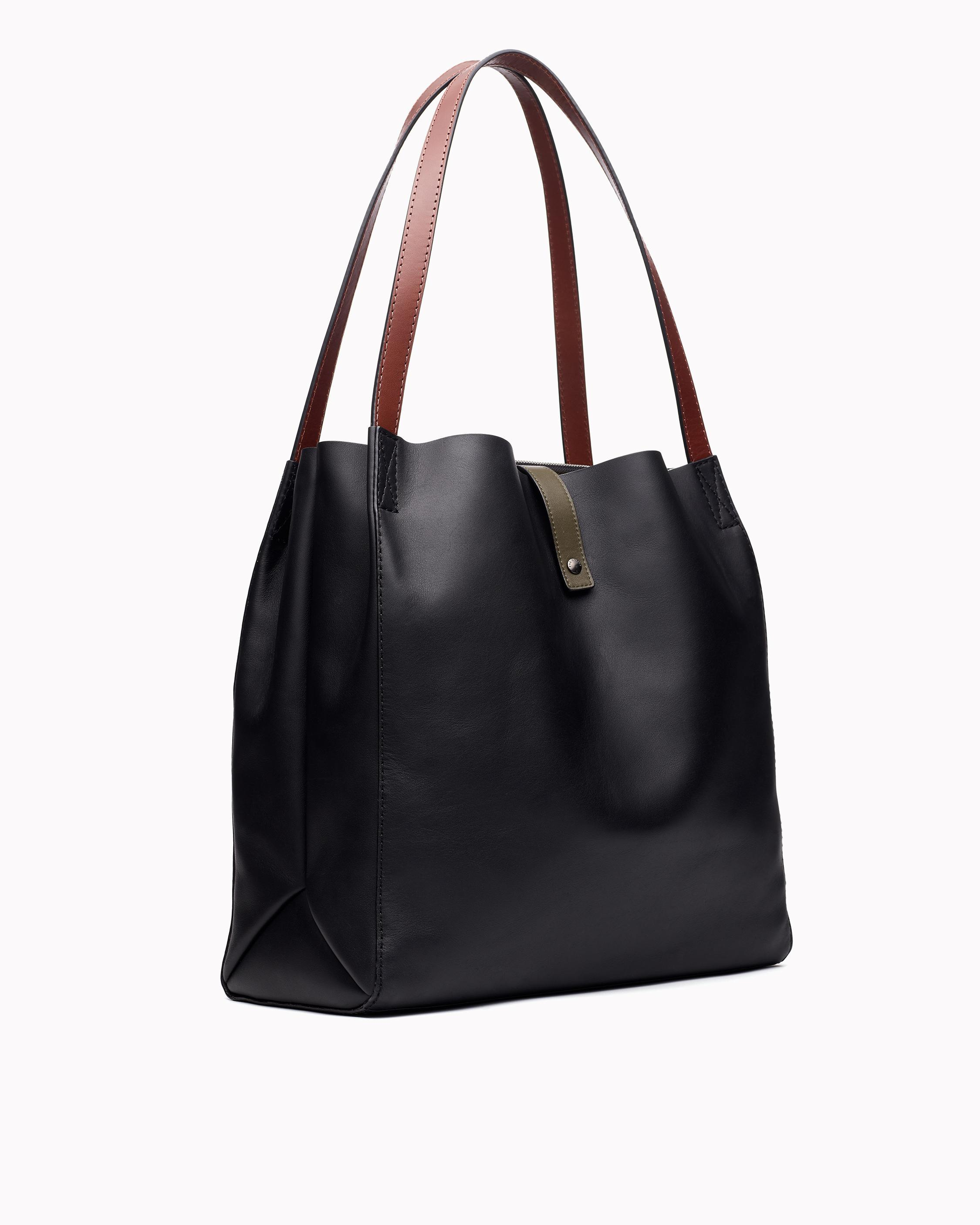 Passenger tote - leather 1