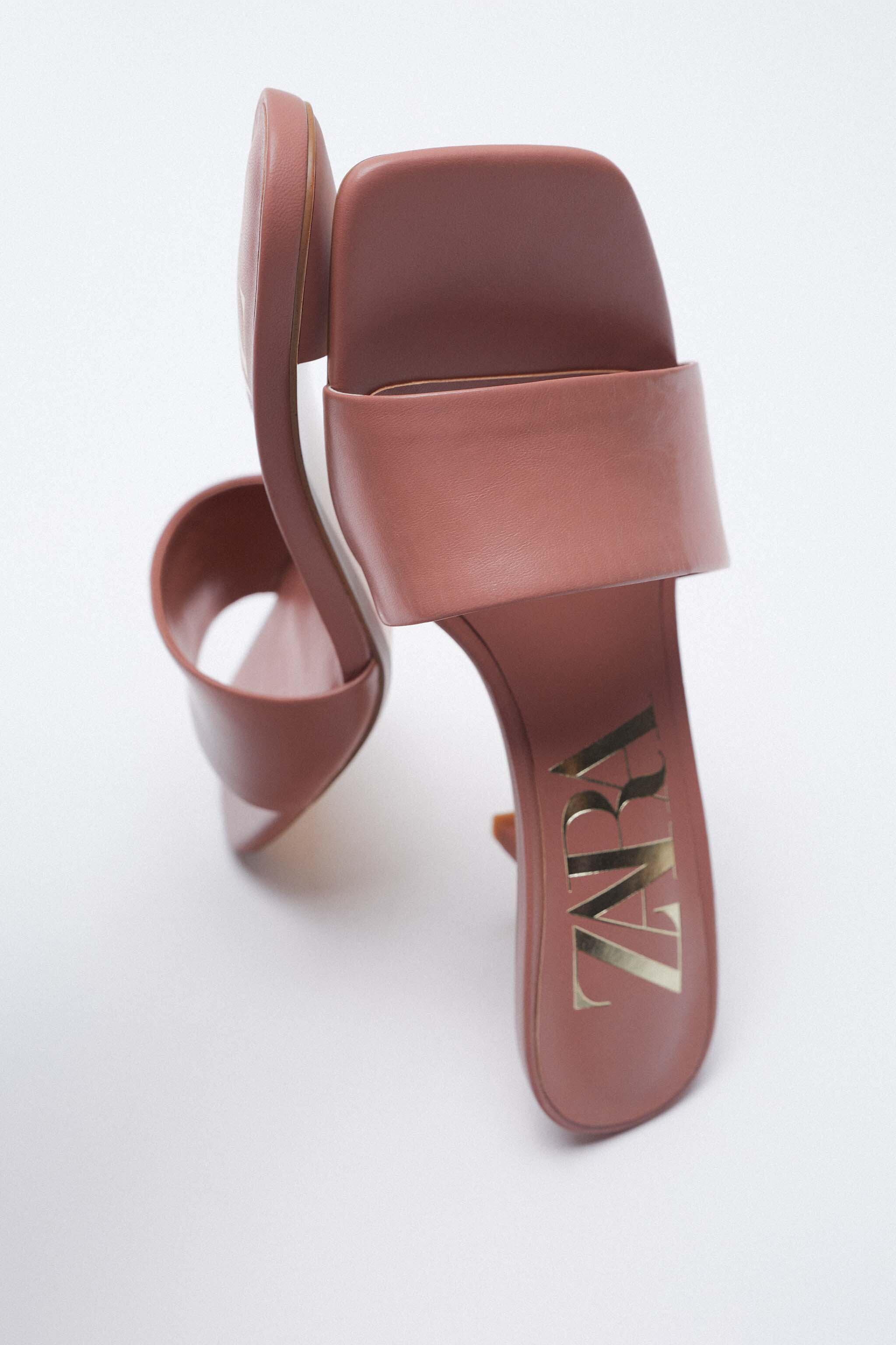 PADDED HEELED LEATHER SANDALS 3