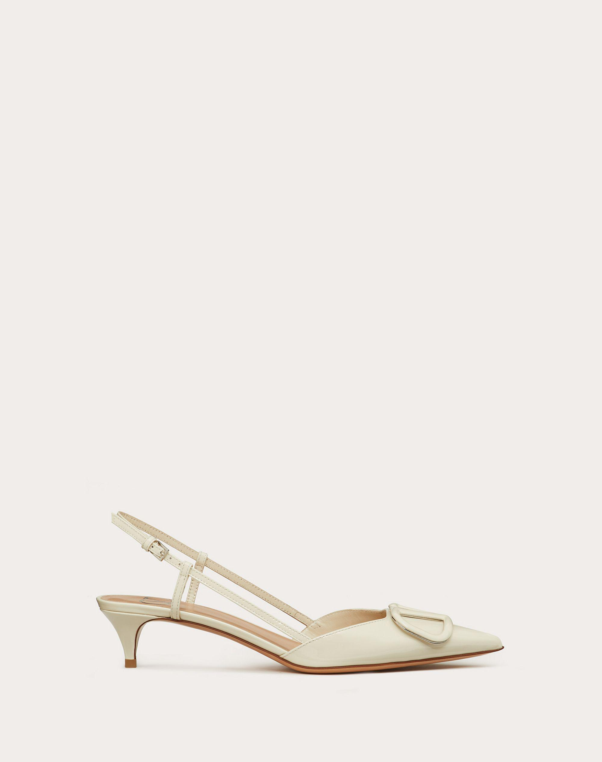 VLogo Signature Patent Leather Slingback Pump 40mm / 1.6 in.