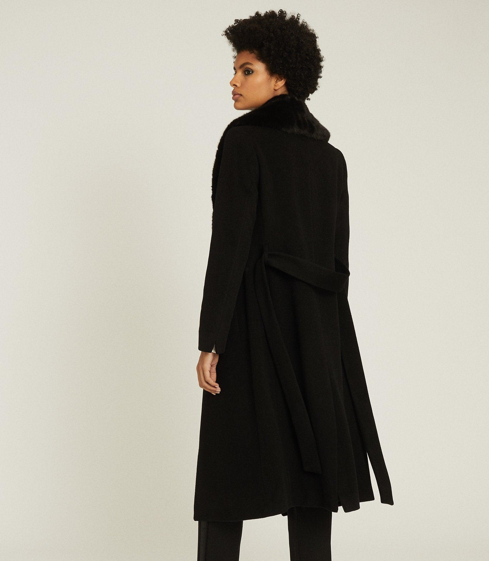PACEY - FAUX FUR SHAWL COLLAR OVERCOAT 3