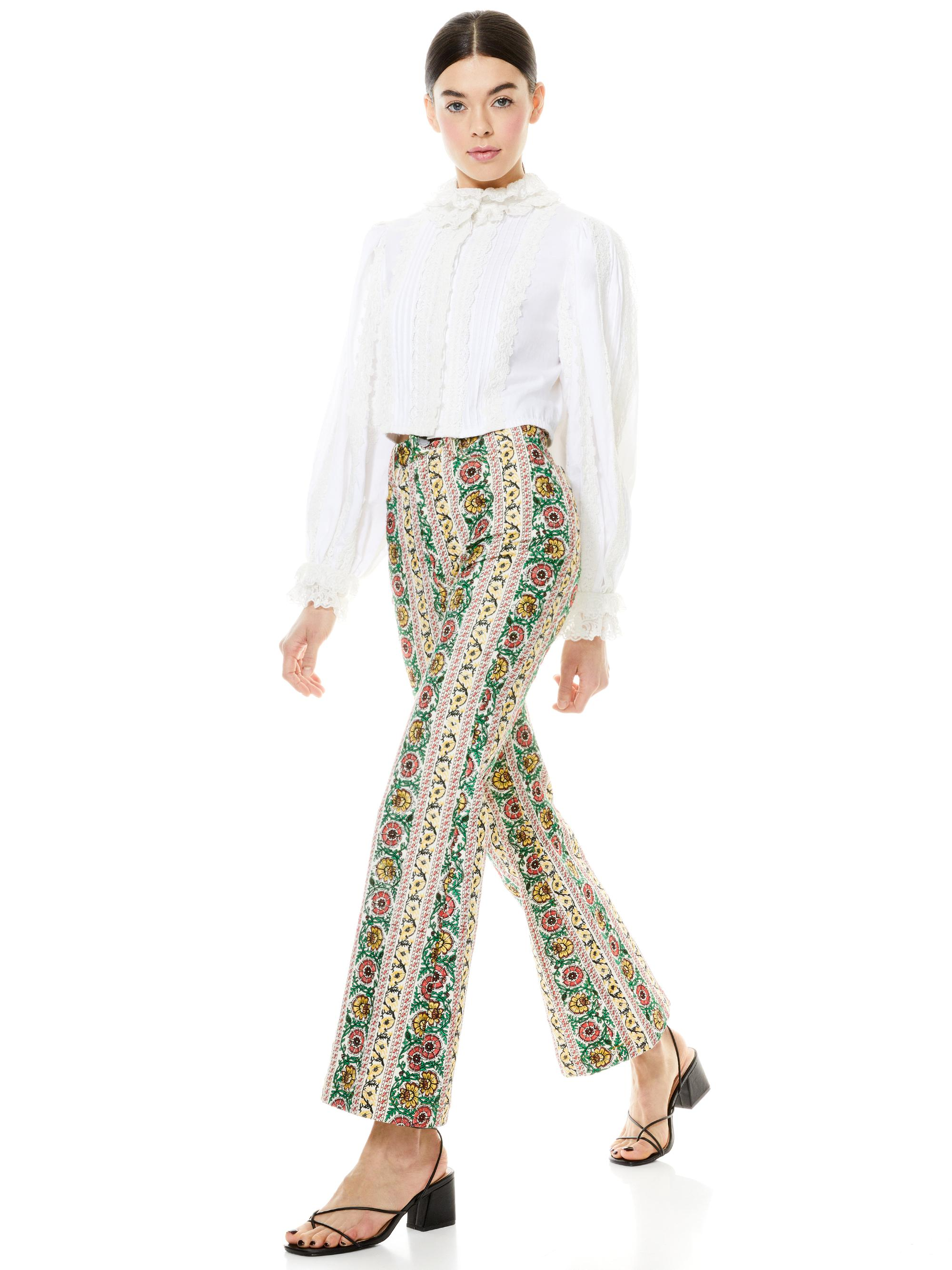 BENEDICT EMBROIDERED FLARE PANT 2