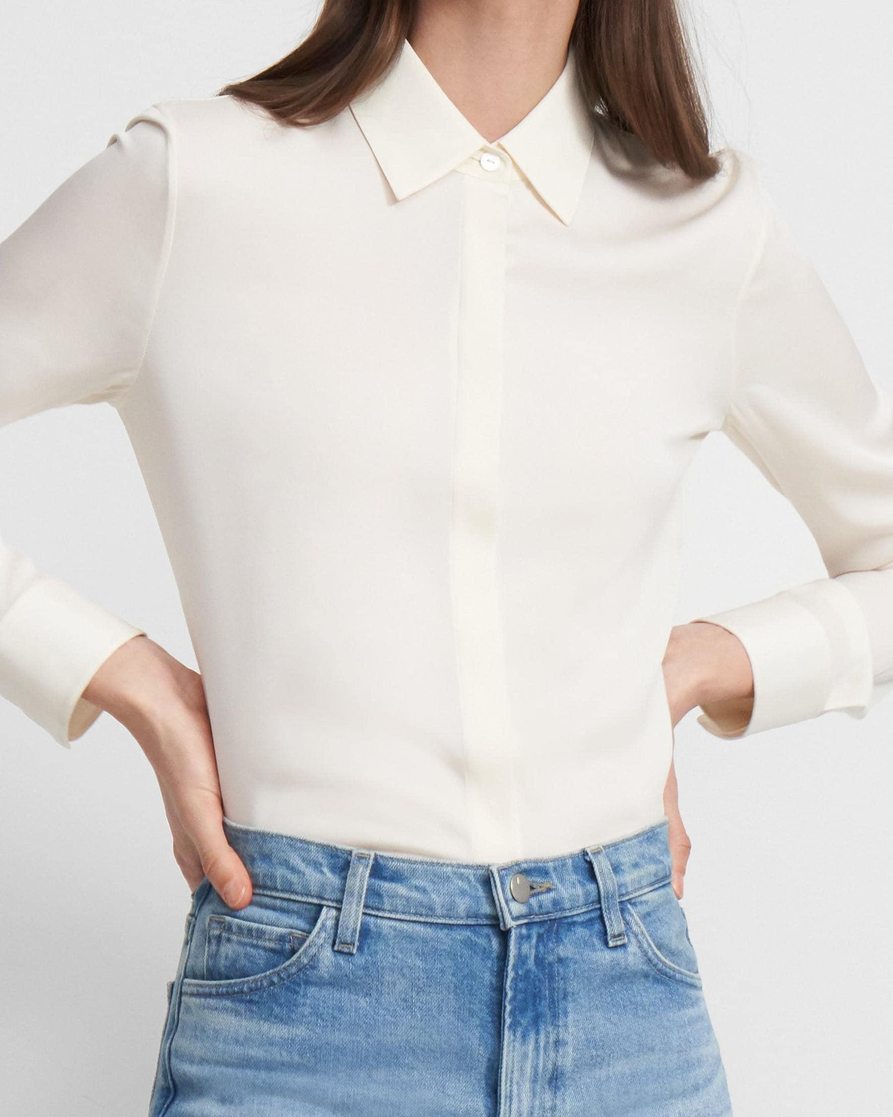 Fitted Shirt in Stretch Silk 3