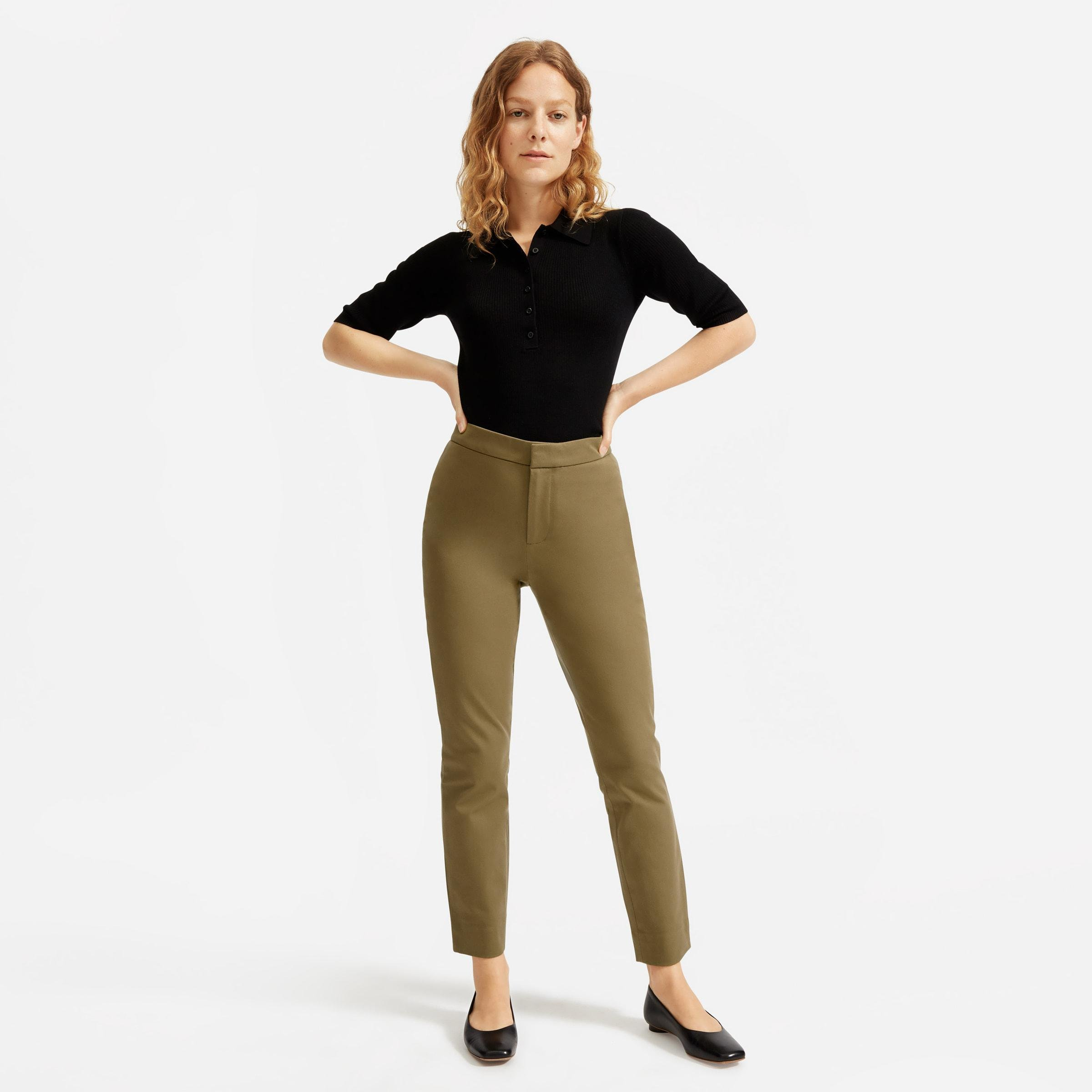 The Fixed-Waist Stretch Cotton Pant