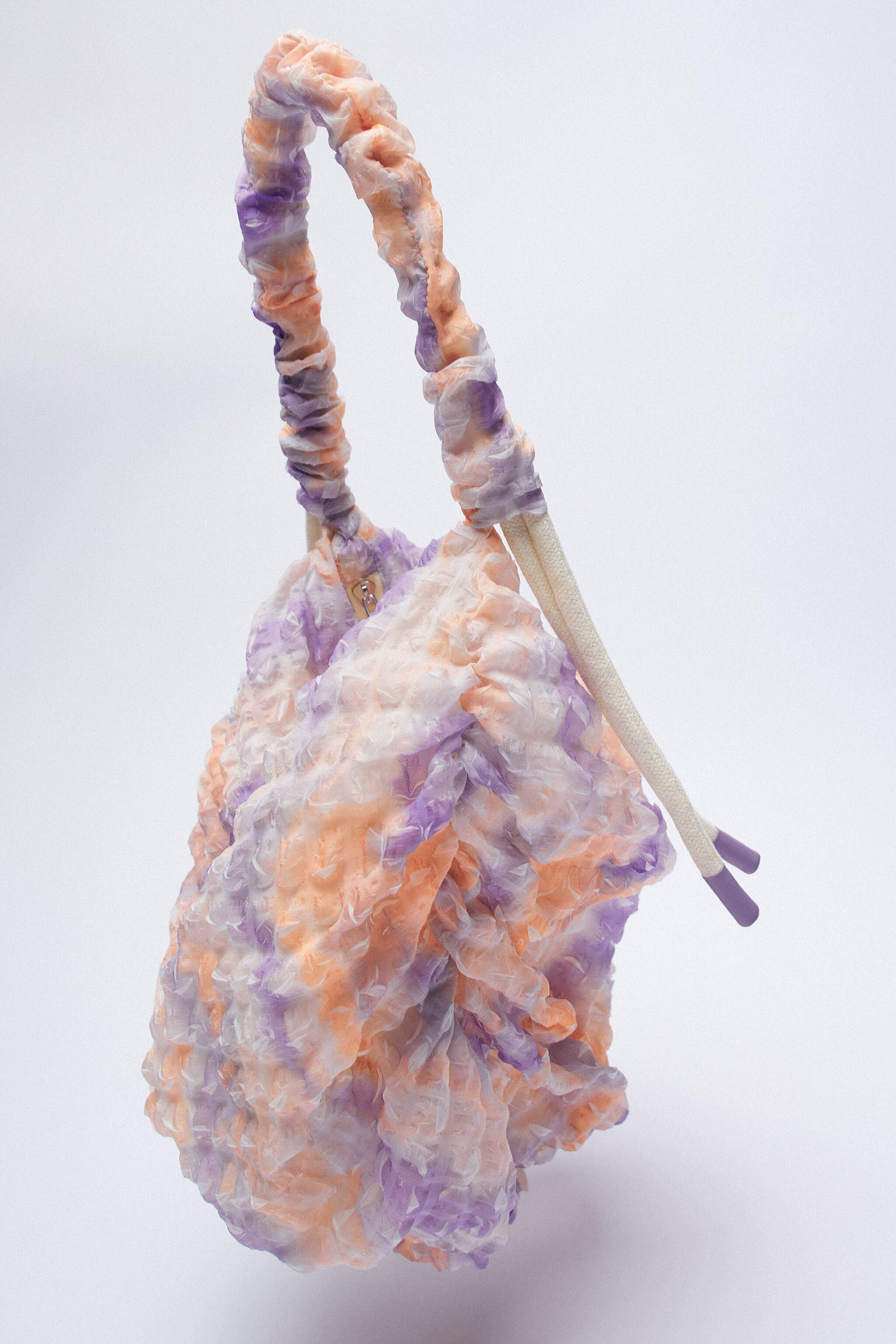 FABRIC BUCKET BAG WITH STRAP 2
