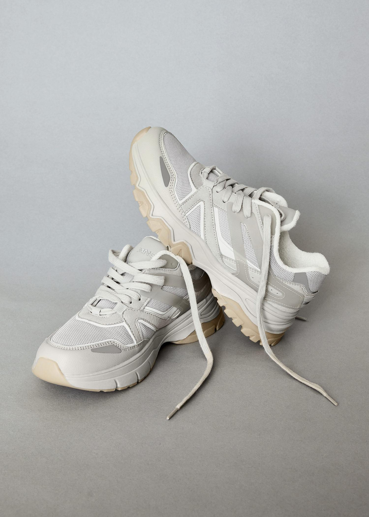 Track sole sneakers 6