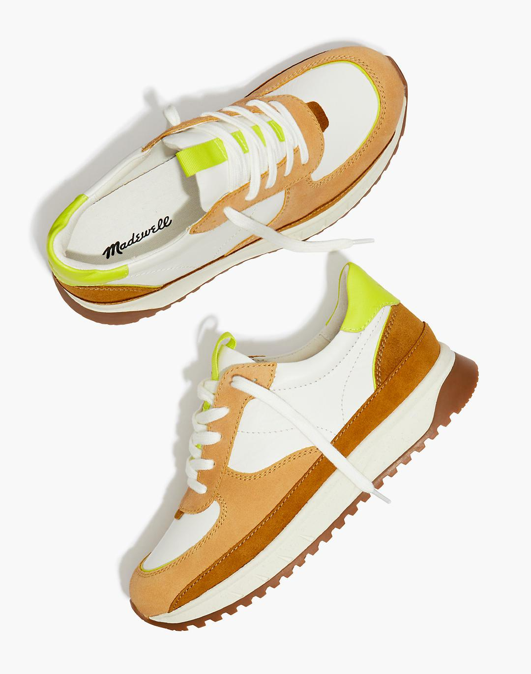 Kickoff Trainer Sneakers in Leather and Suede
