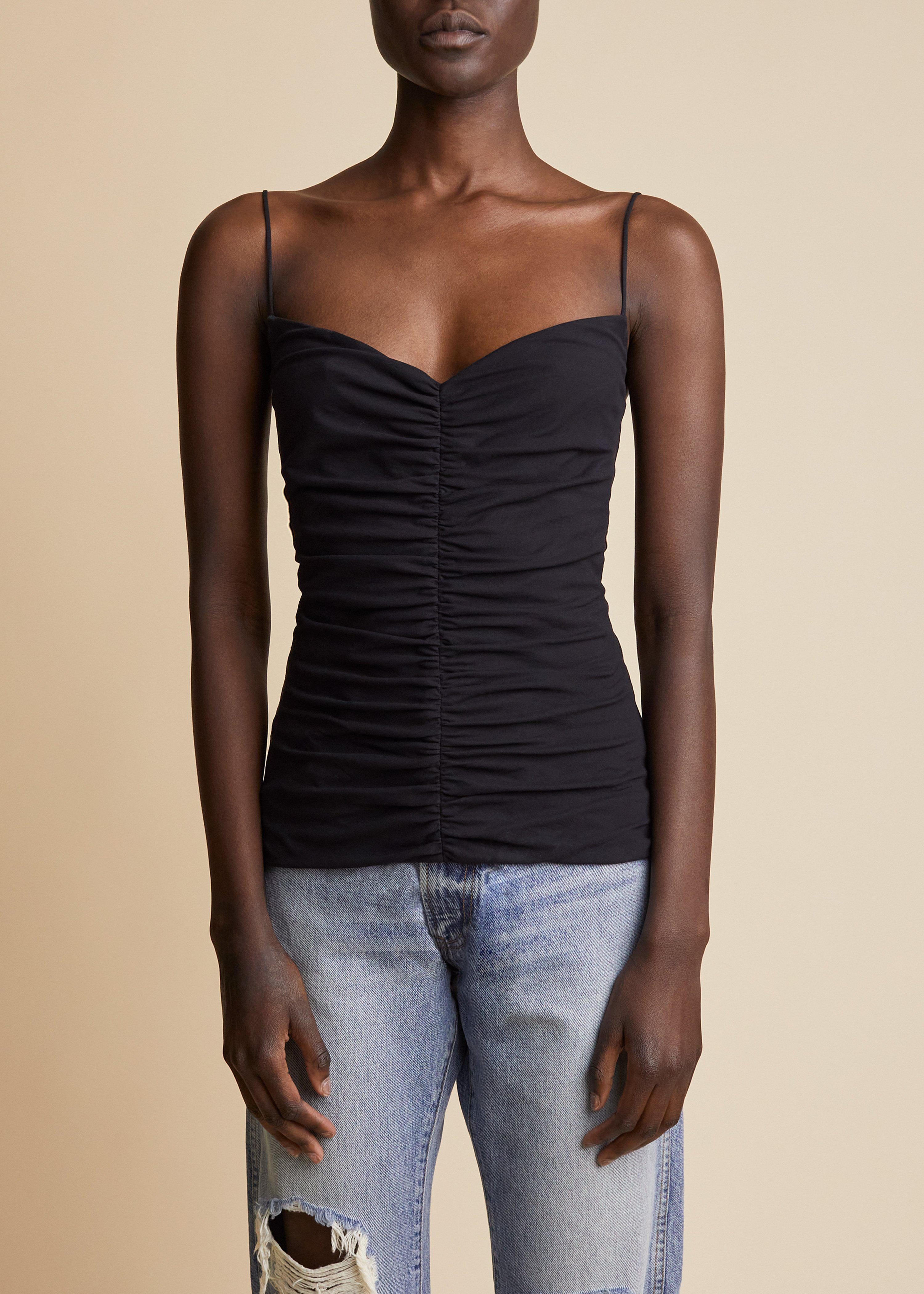 The Shelly Top in Black
