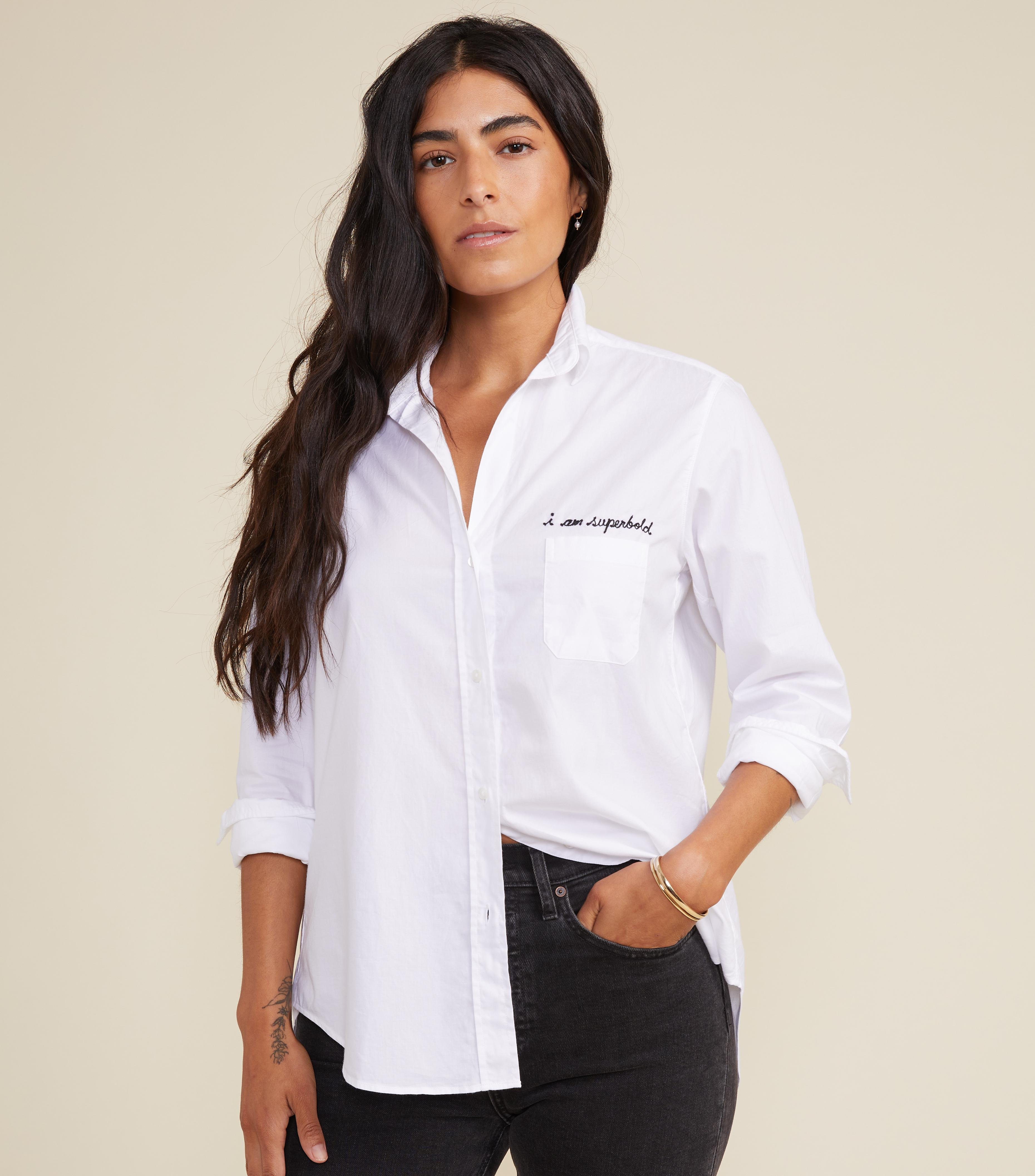The Hero Button-Up Shirt Bold, Brushed Cotton