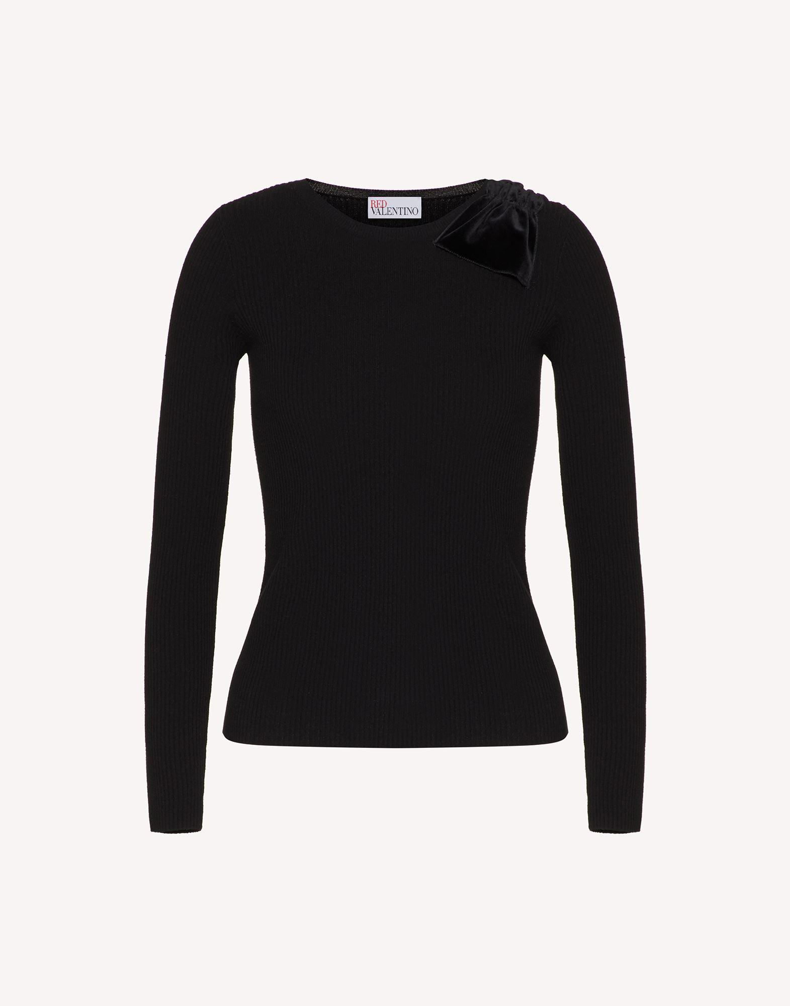 STRETCH VISCOSE SWEATER WITH BOW DETAIL 4