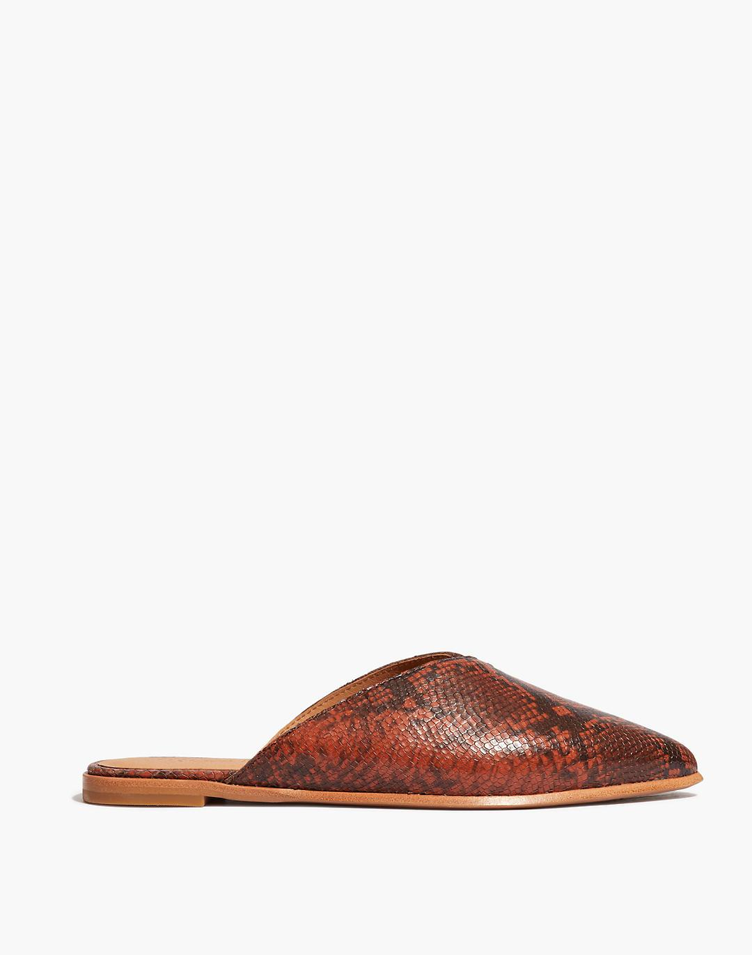 The Emilia Mule in Snake Embossed Leather 1