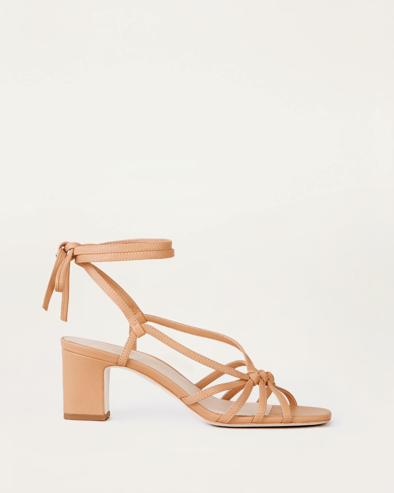 Libby Knotted Wrap Sandal Dune 1