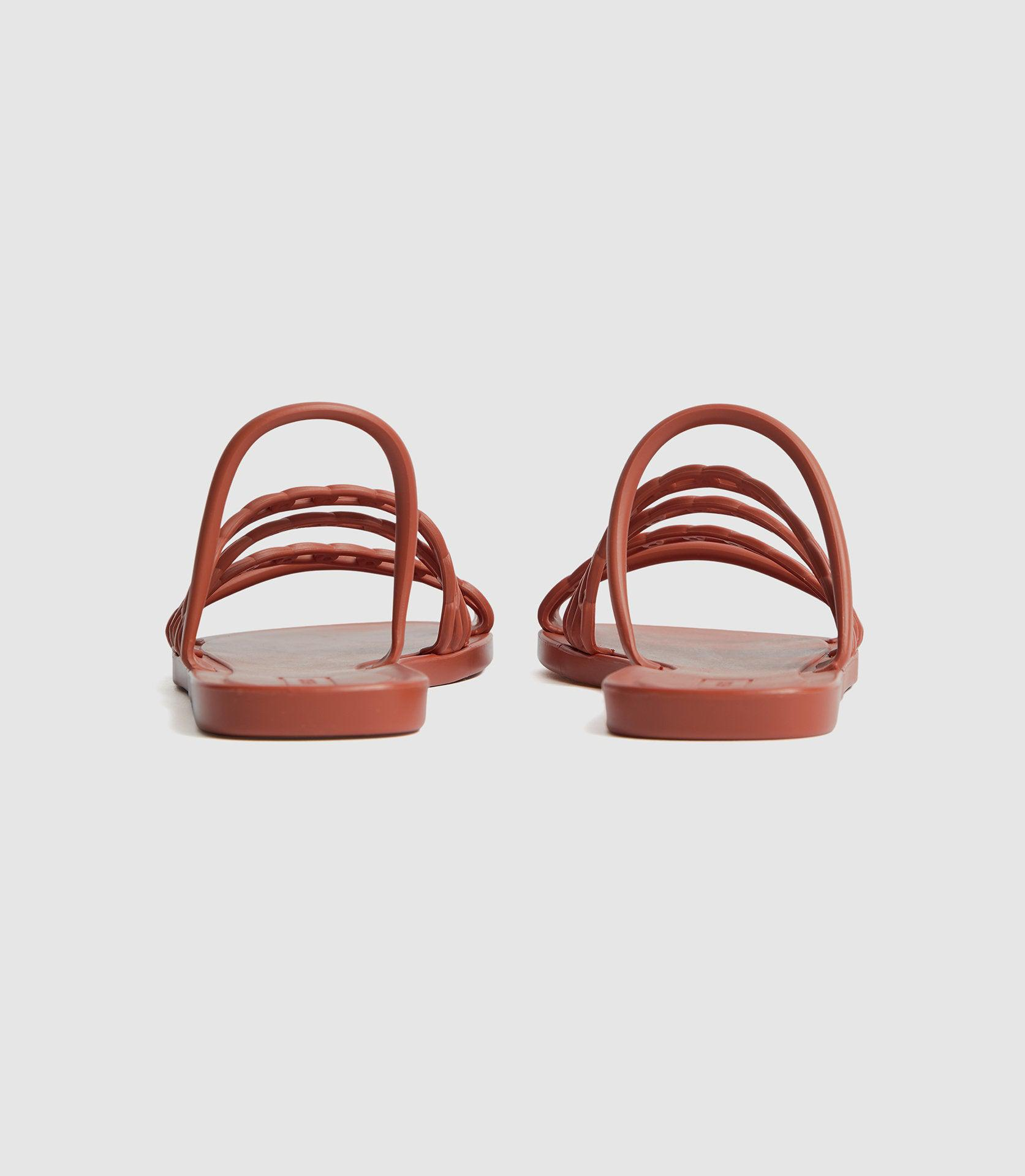 MAGDA - CHAIN DETAIL JELLY SANDALS 3