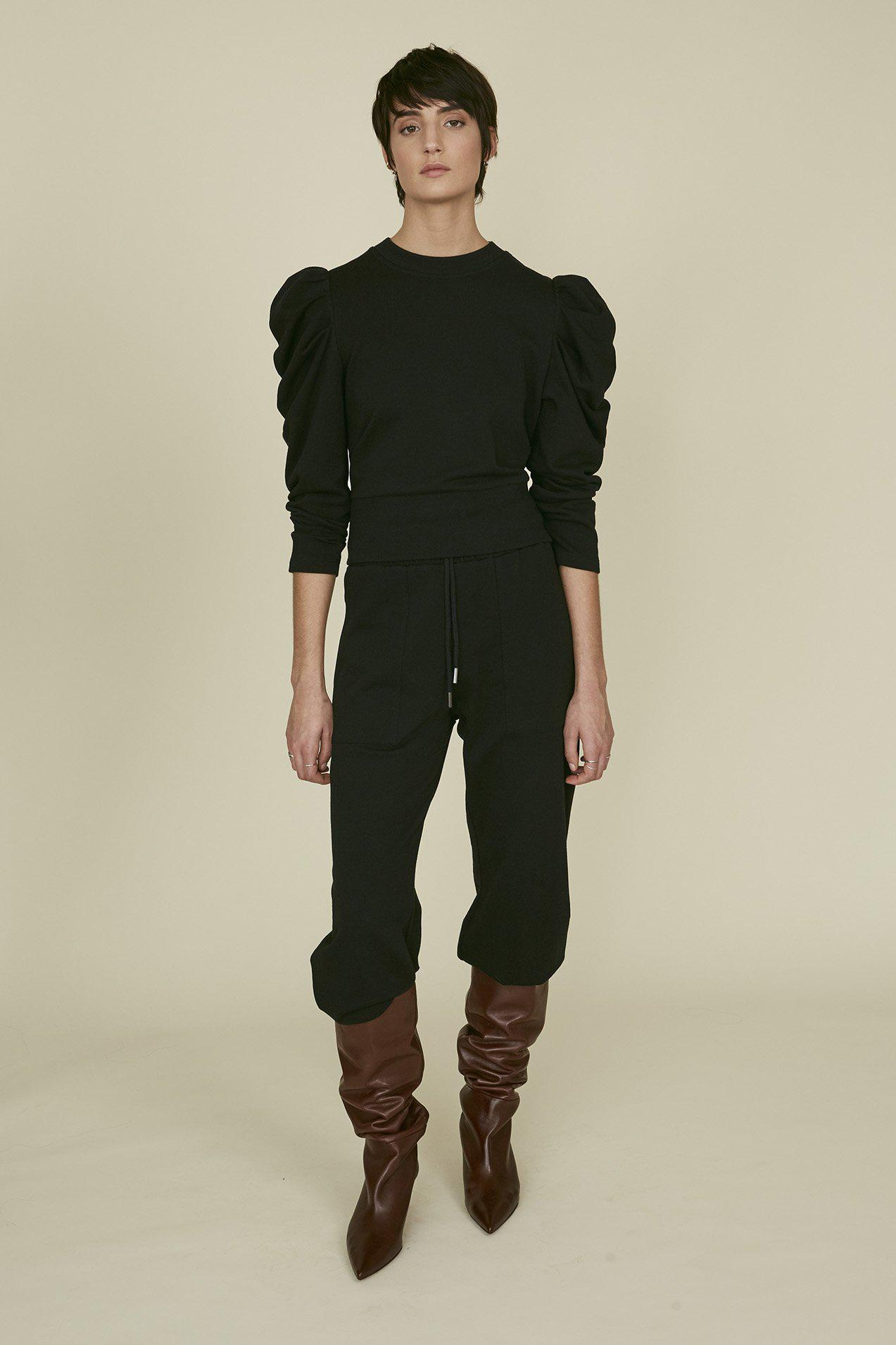 The Just Enough Puff Sweatshirt in Black 1
