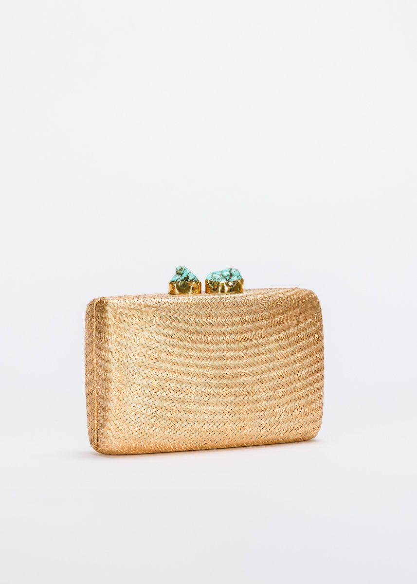 Jen clutch with Turquoise Stone 2