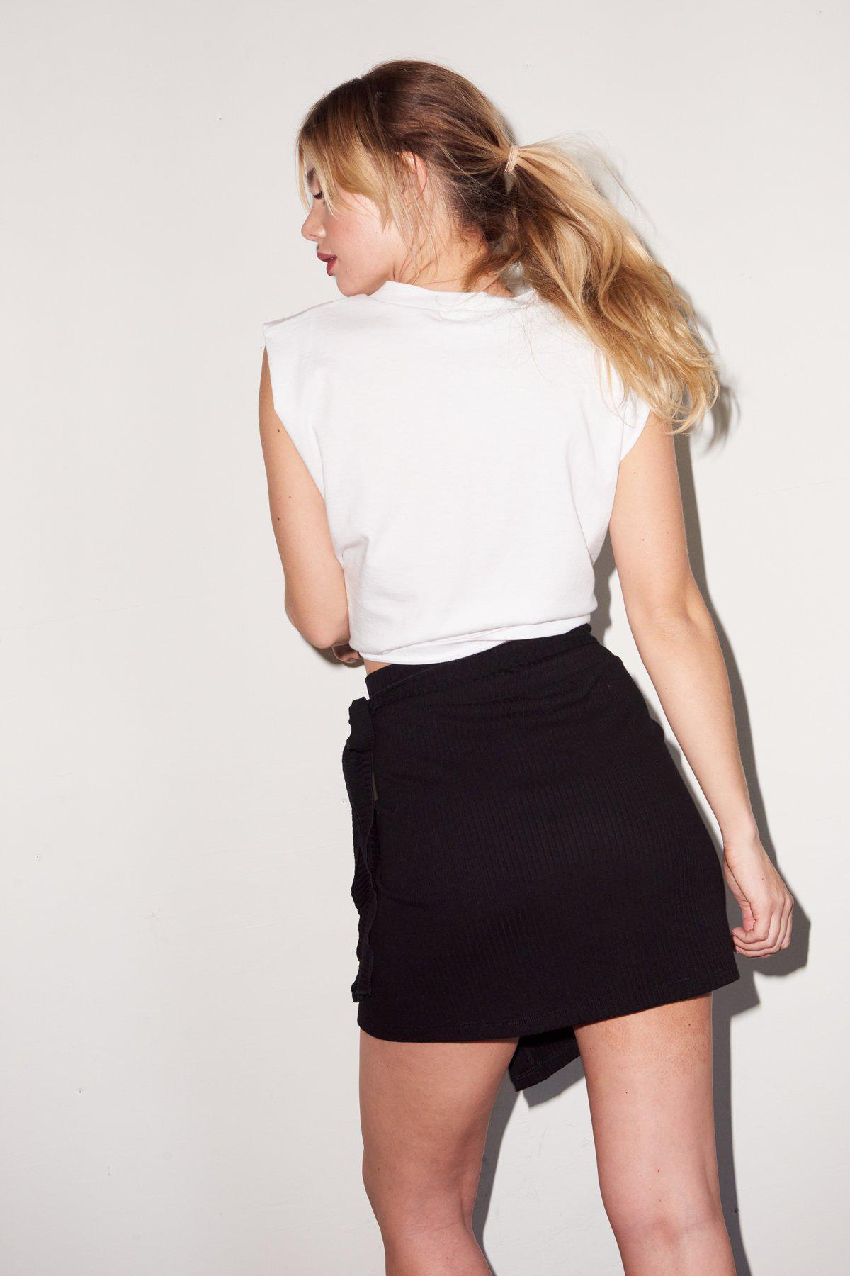 Strong Shoulder Tee - White 4