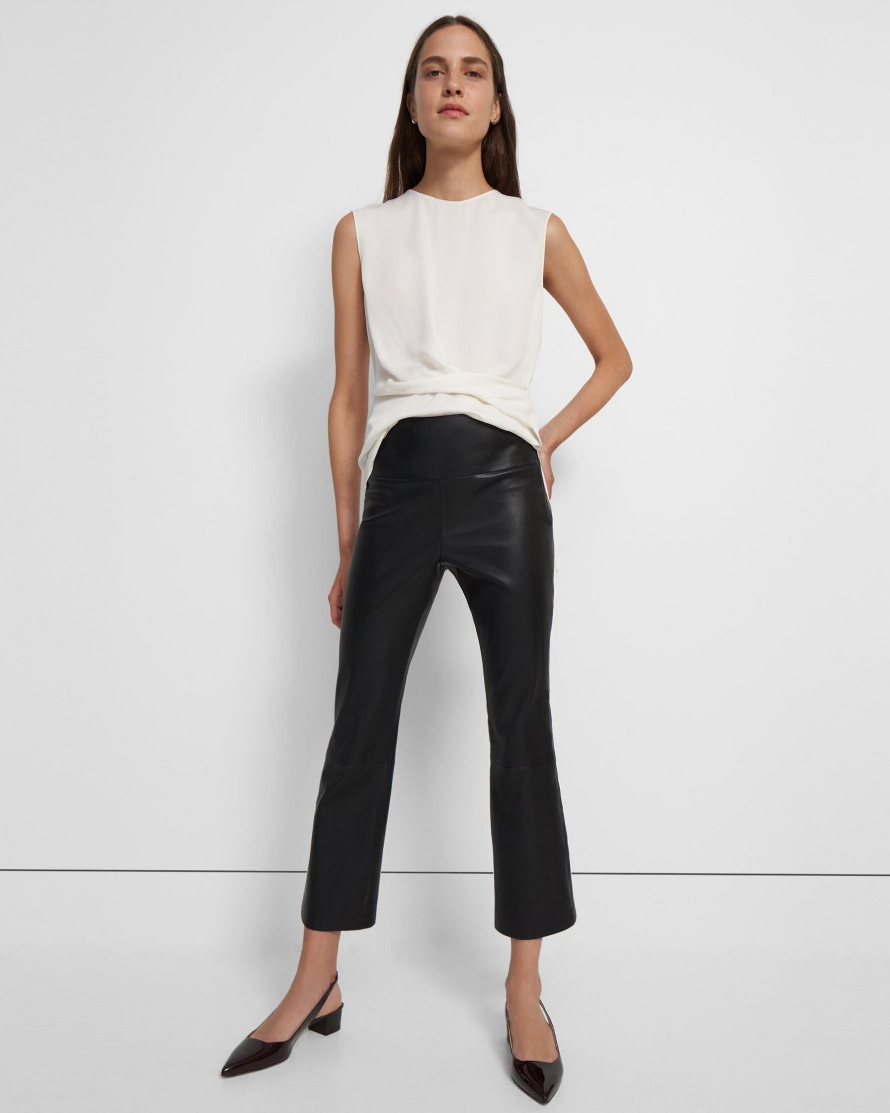 Kick Pant in Leather