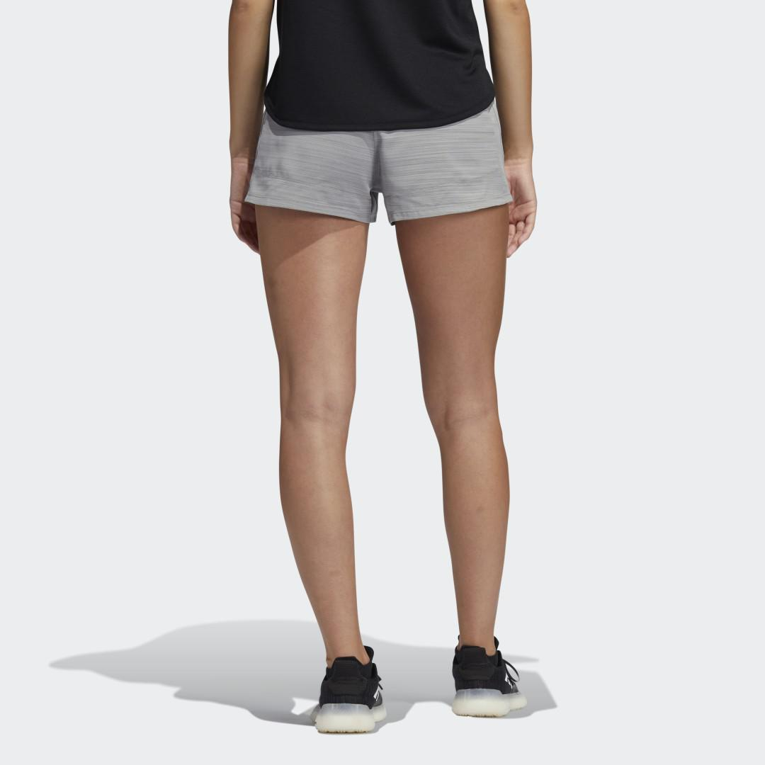 Pacer 3-Stripes Woven Heather Shorts Mgh Solid Grey XL - Womens Training Shorts 1