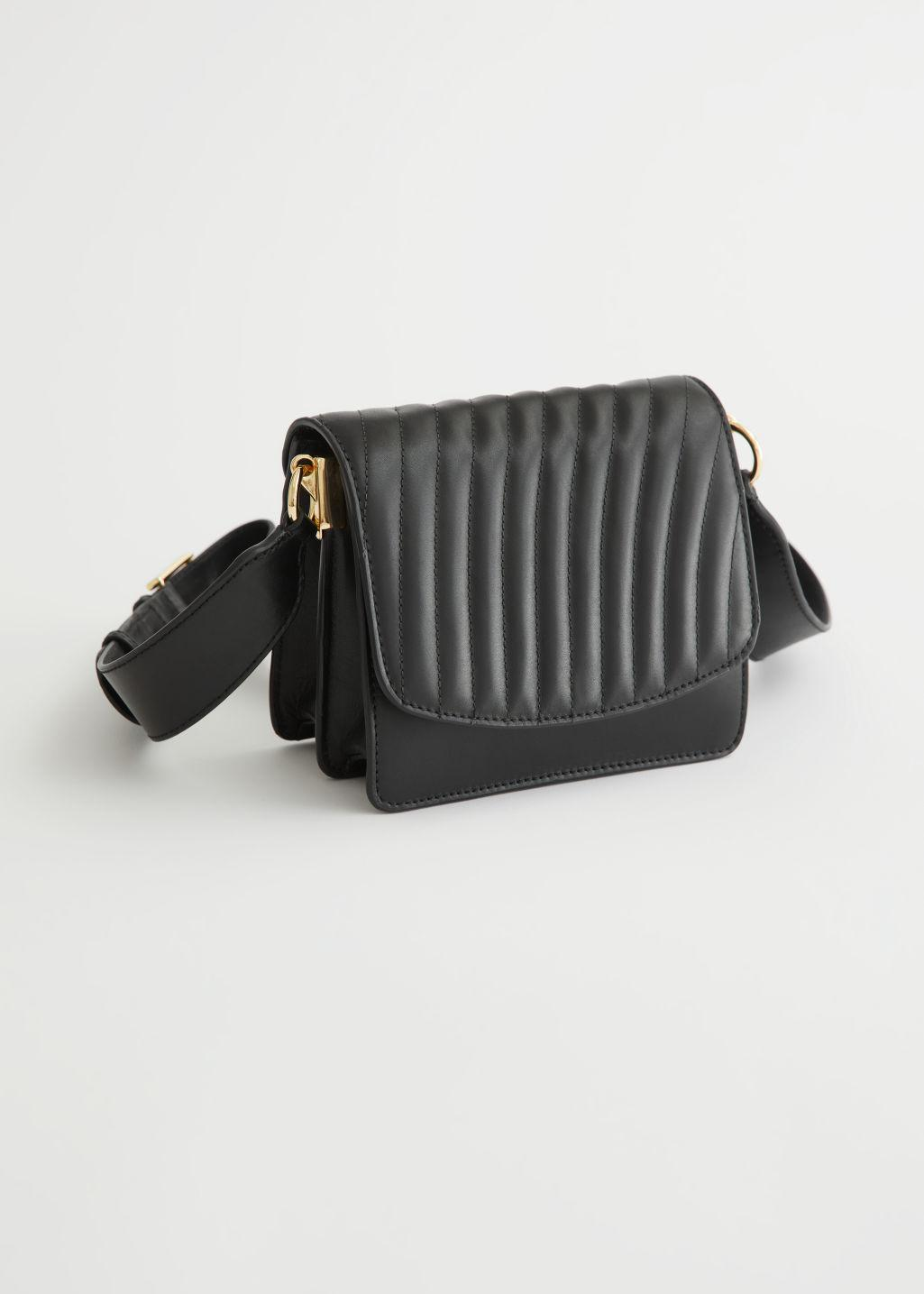 Stripe Quilted Leather Bag