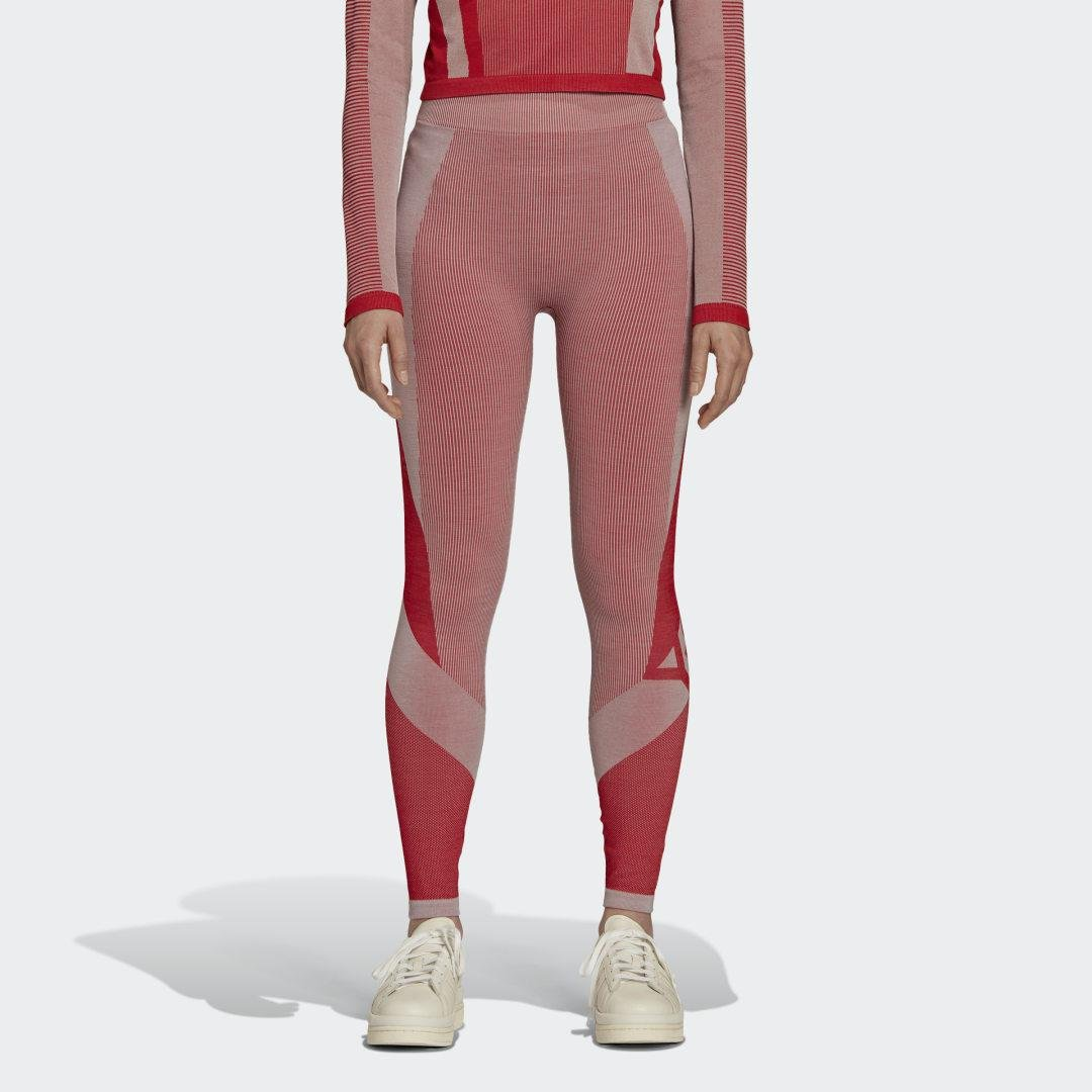 Y-3 Classic Seamless Knit Tights Collegiate Red