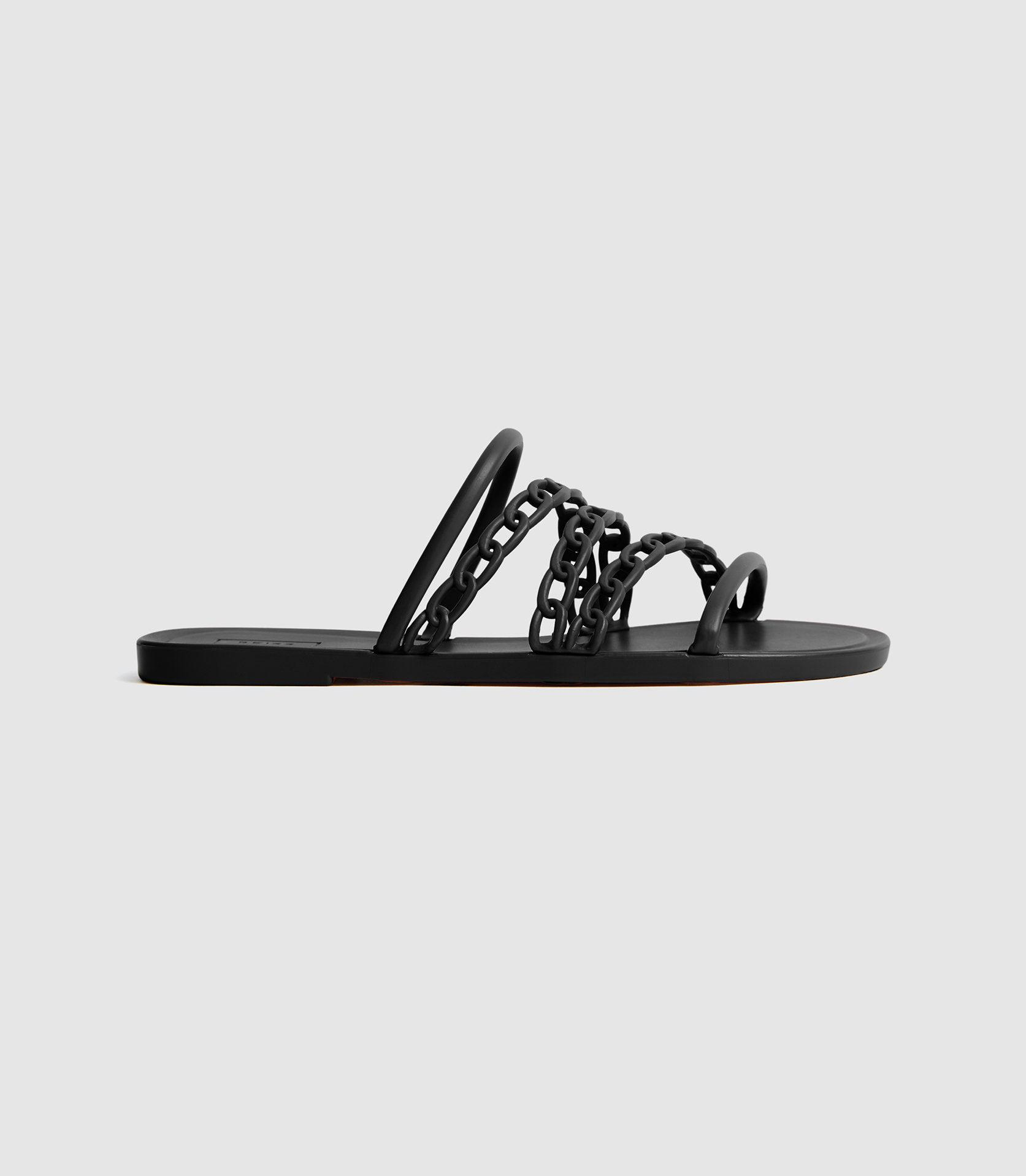 MAGDA - CHAIN DETAIL JELLY SANDALS