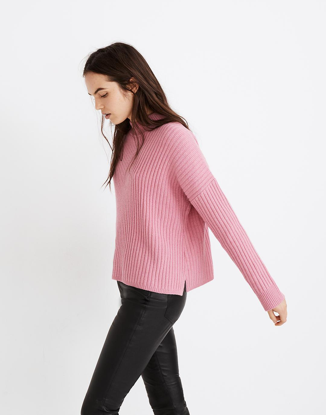 (Re)sourced Cashmere Ribbed Mockneck Pullover Sweater 1