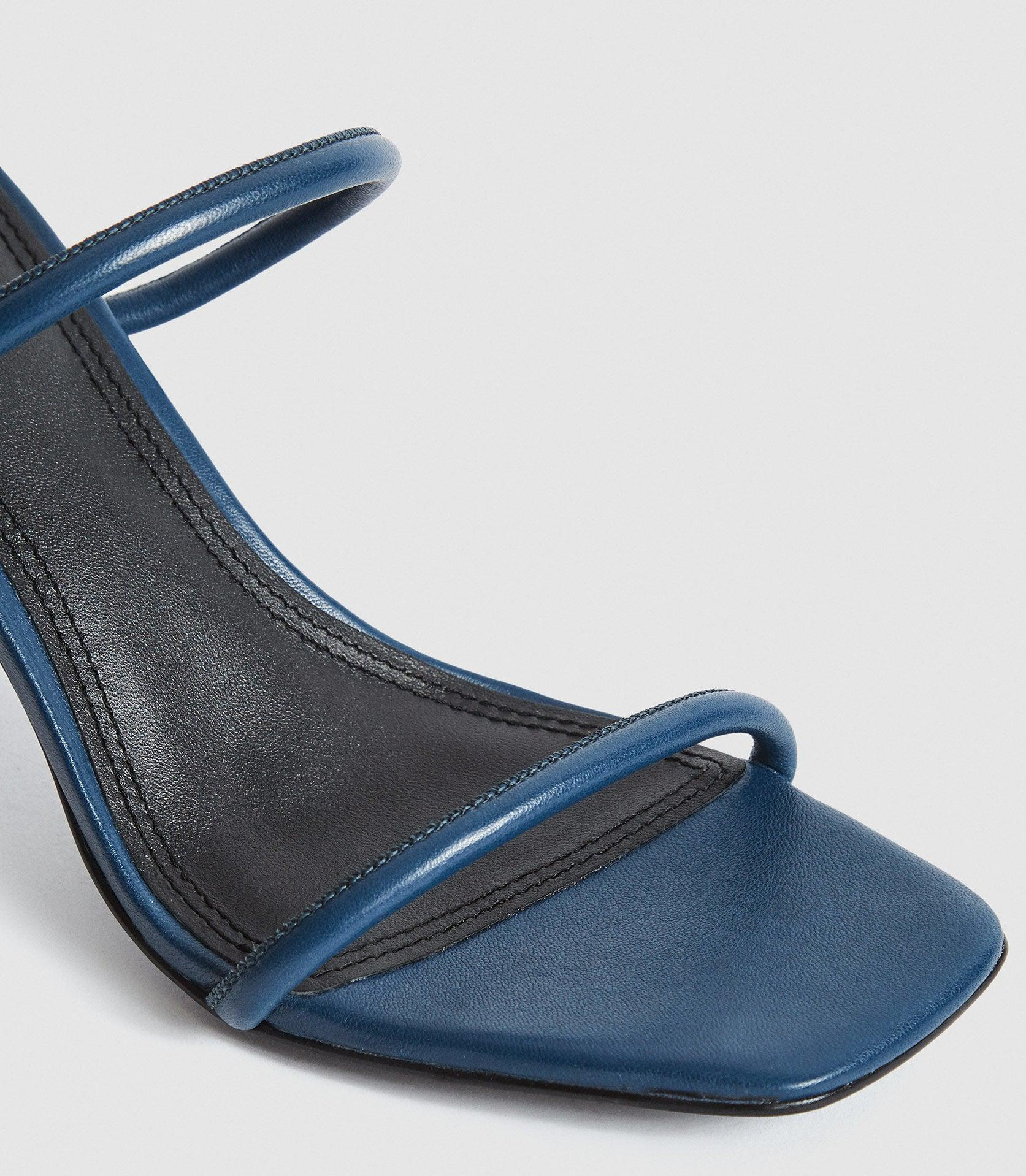 MAGDA - LEATHER STRAPPY HEELED SANDALS 4
