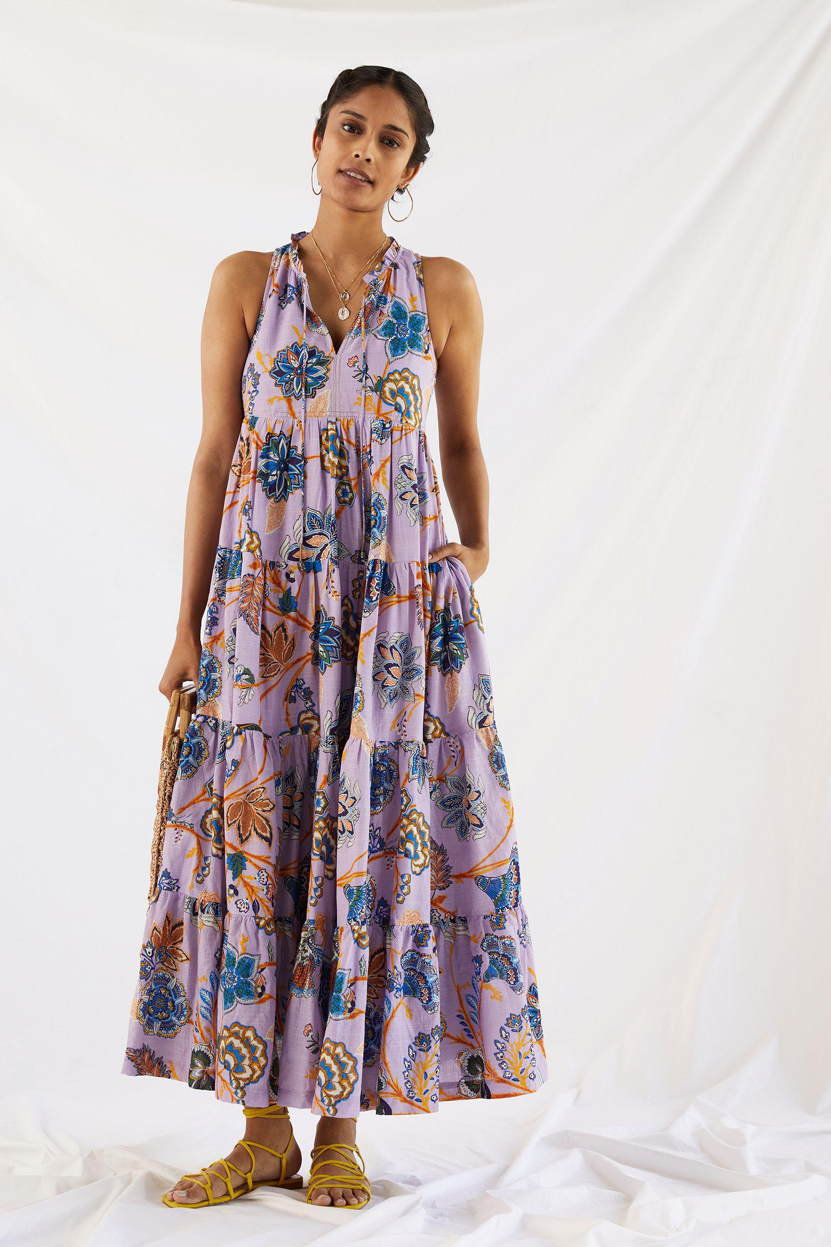 Tiered Abstract Maxi Dress 1