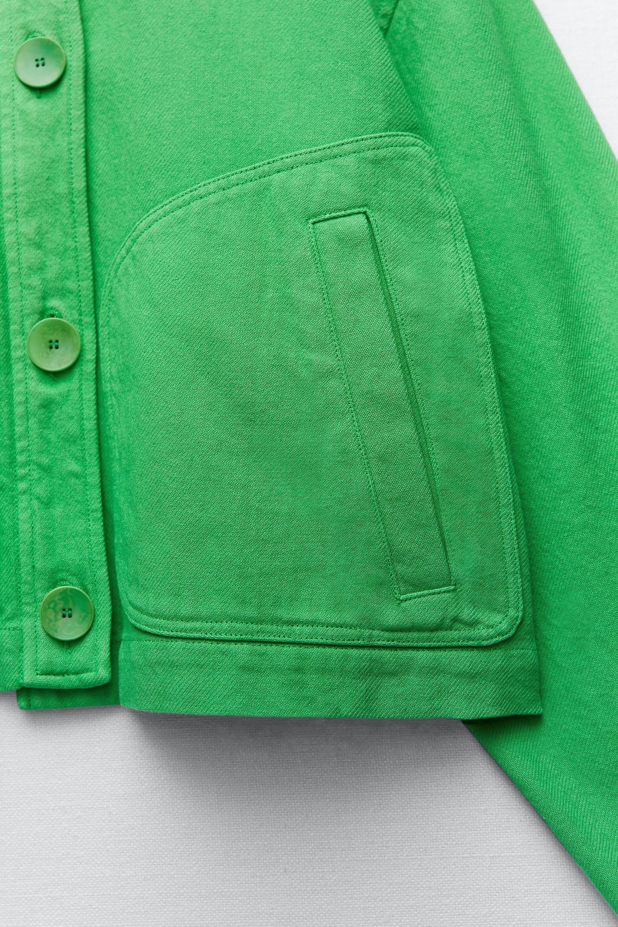 SOLID COLOR CROPPED JACKET 8