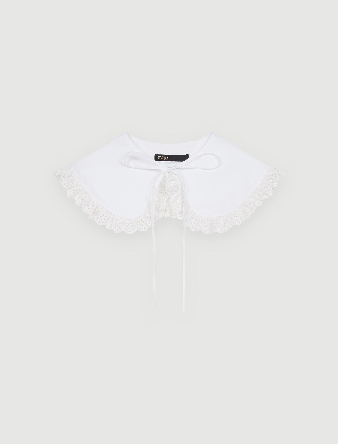 EMBROIDERED COTTON PETER PAN COLLAR