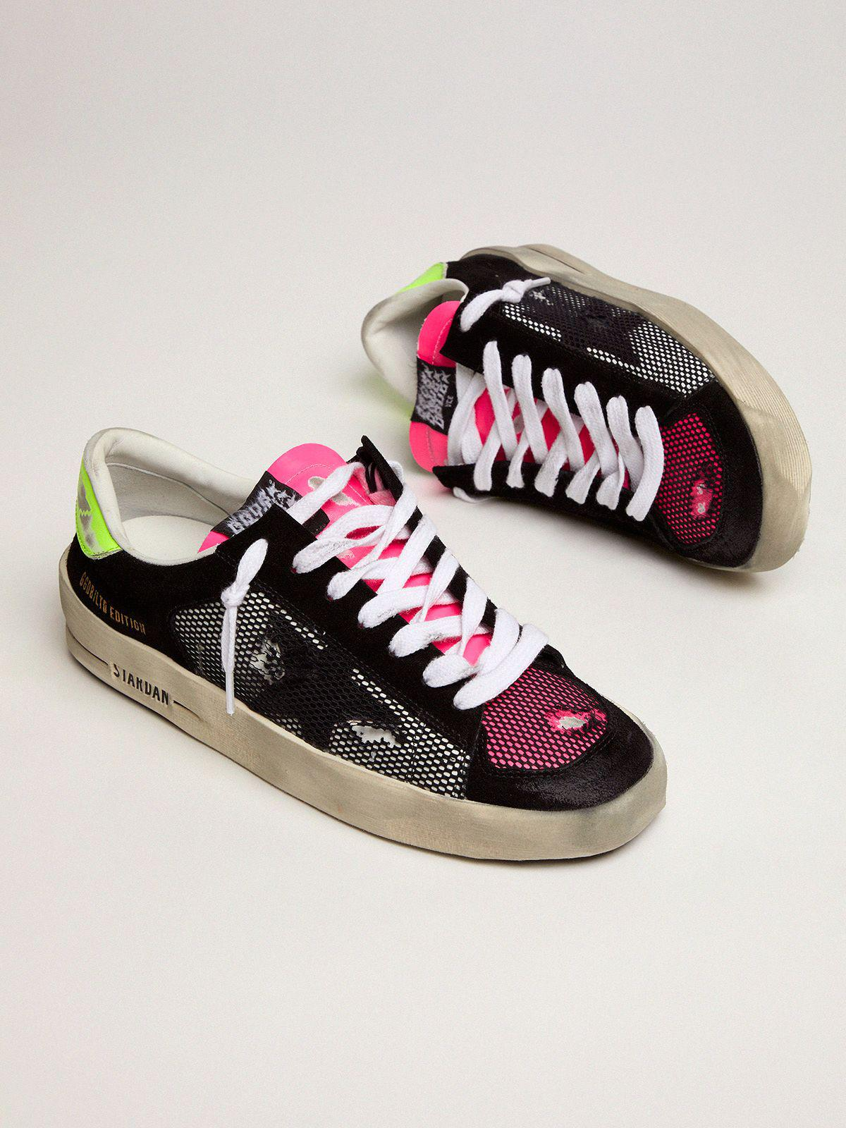 Women's Limited Edition Stardan sneakers in fuchsia and yellow 1
