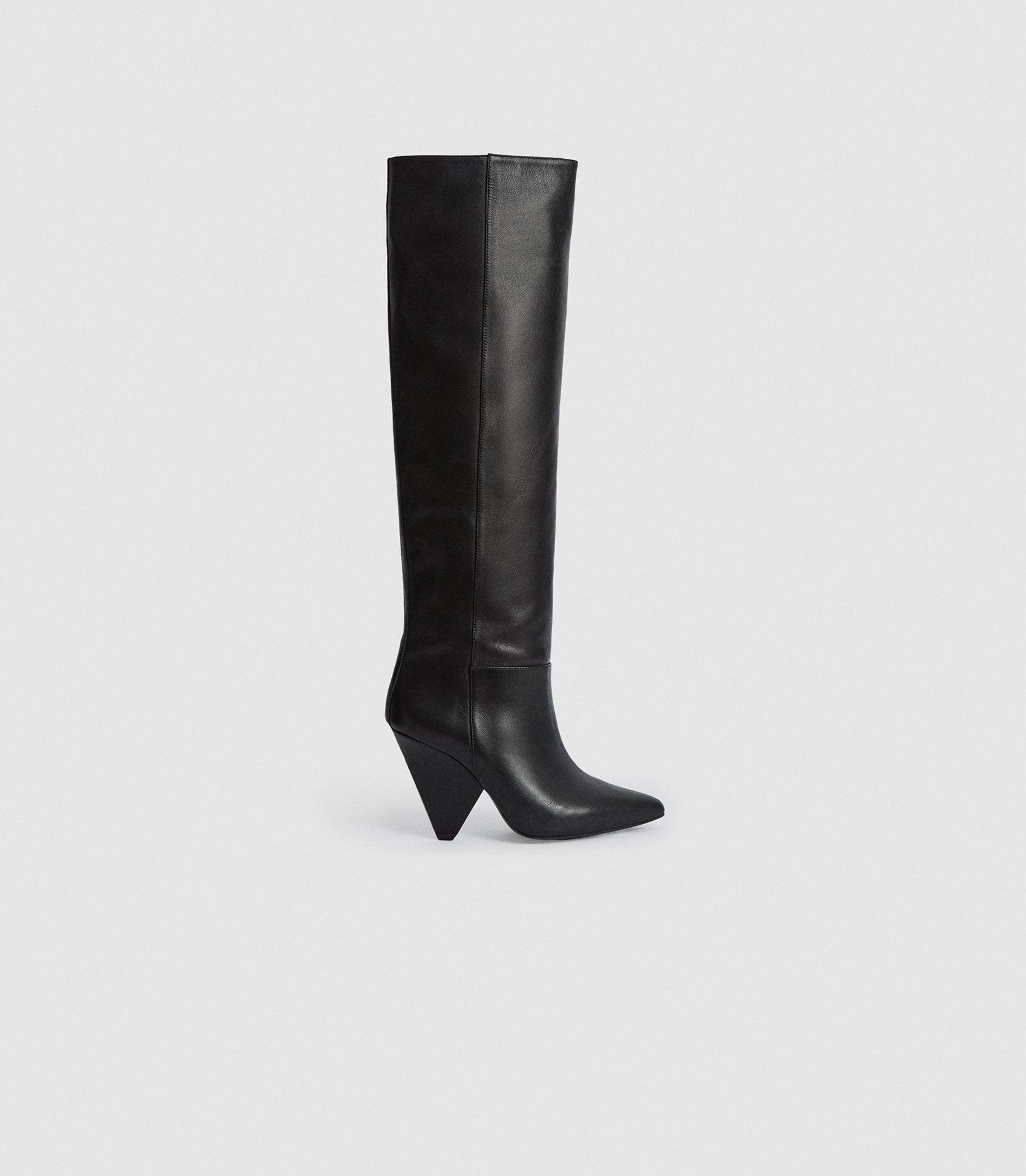 JAX - LEATHER KNEE HIGH BOOTS