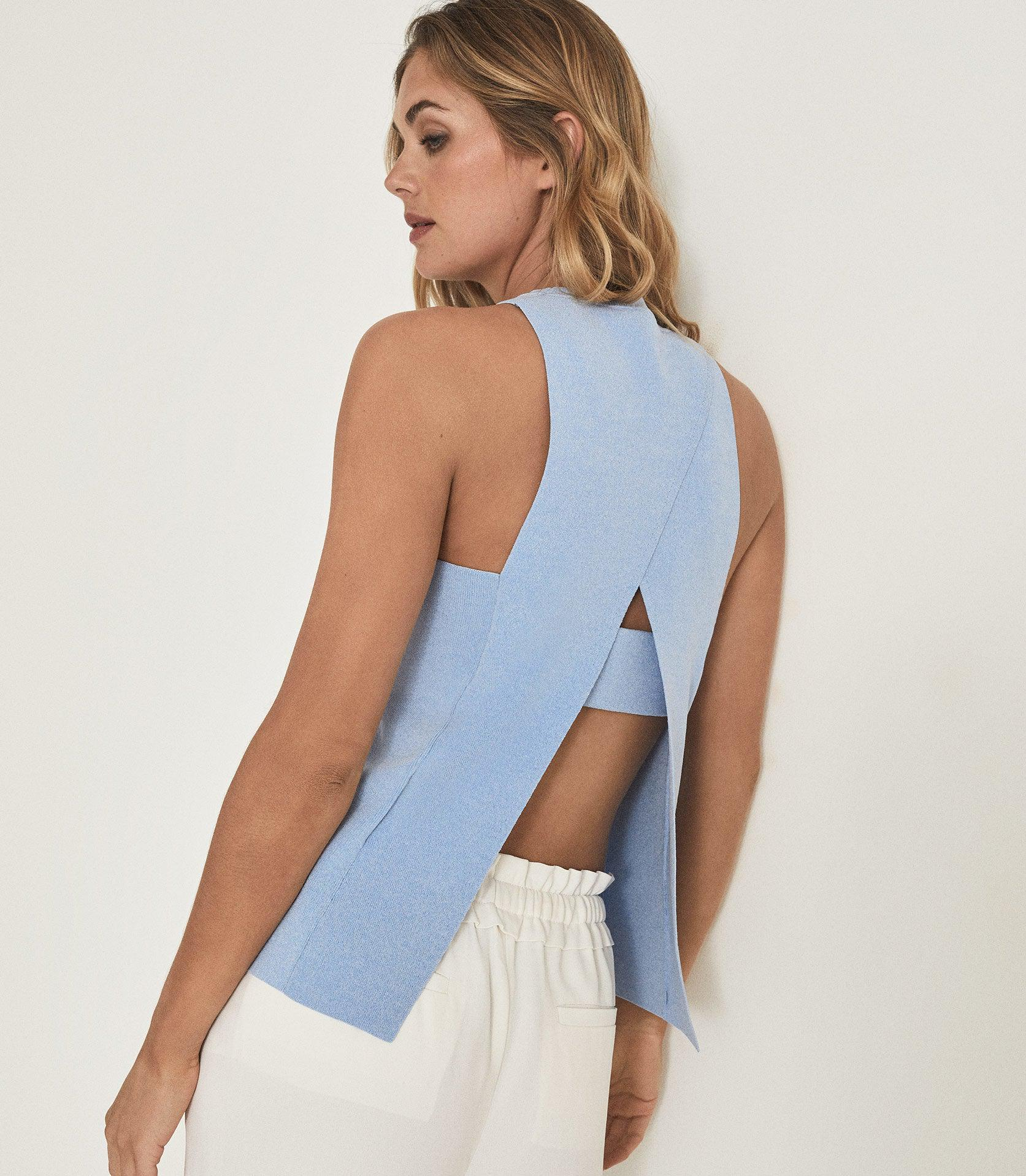 HEIDI - KNITTED OPEN BACK TOP 1