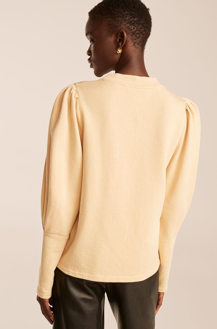 PUFF SLEEVE KNIT TOP 1