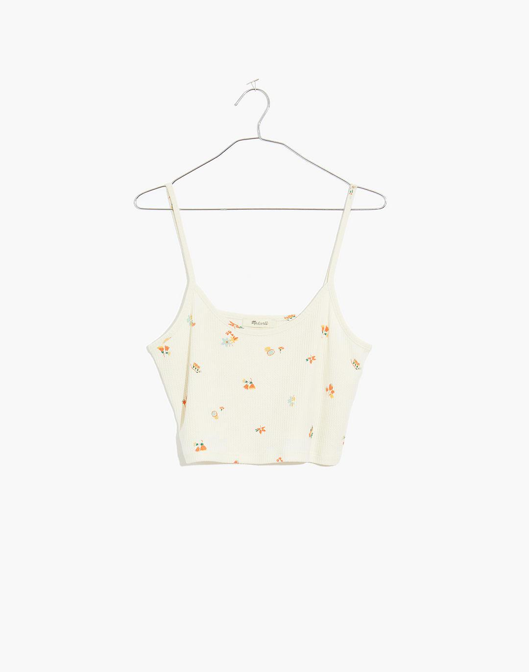 Waffle Knit Pajama Crop Cami in Floral Reef 3
