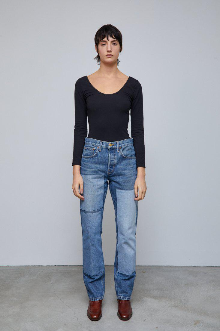 Marcel Relaxed Straight Jean Reese Vintage Patchwork No.3