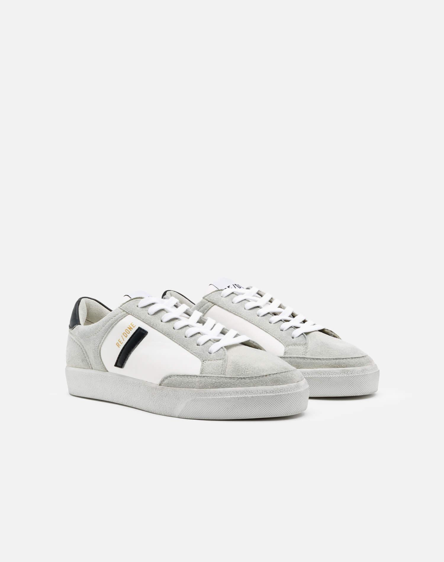 90s Sustainable Skate Shoe - White and Black 1