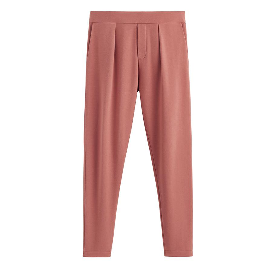 Women's French Terry Pleated Front Pant in Passion Fruit | Size: 0