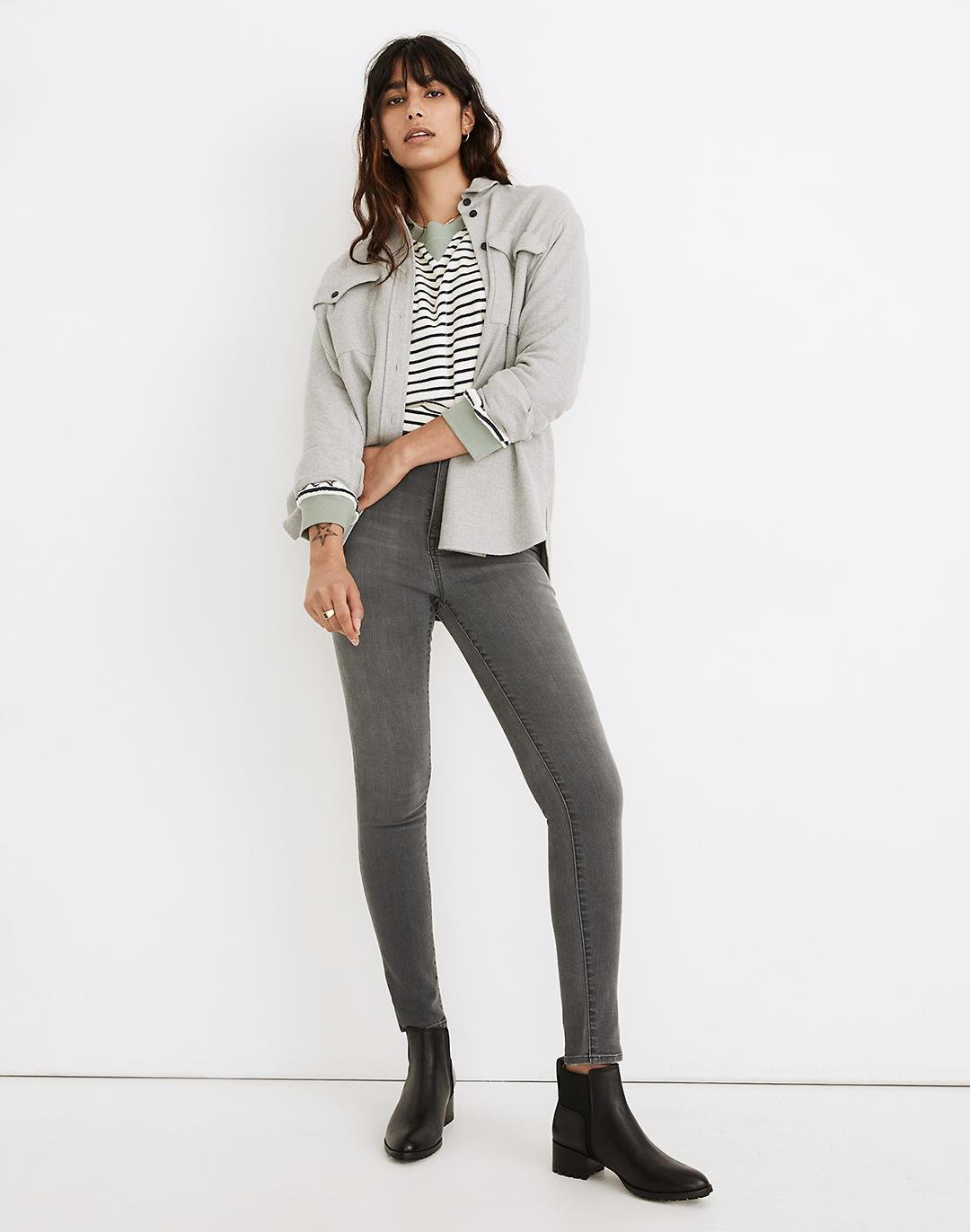 """Petite 11"""" High-Rise Skinny Jeans in Levin Wash: Retro Pocket Edition"""