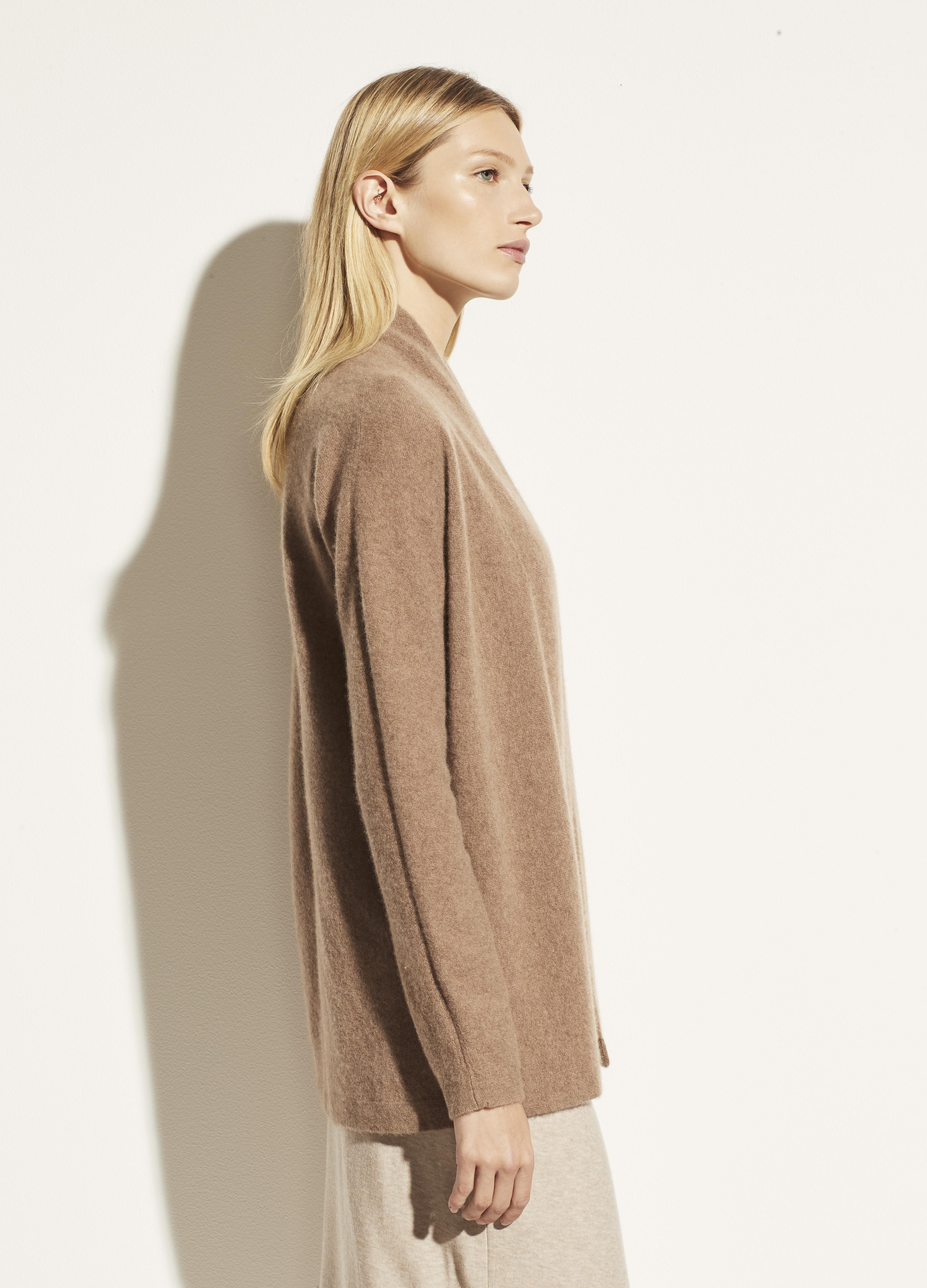 Boiled Cashmere Open Cardigan 1