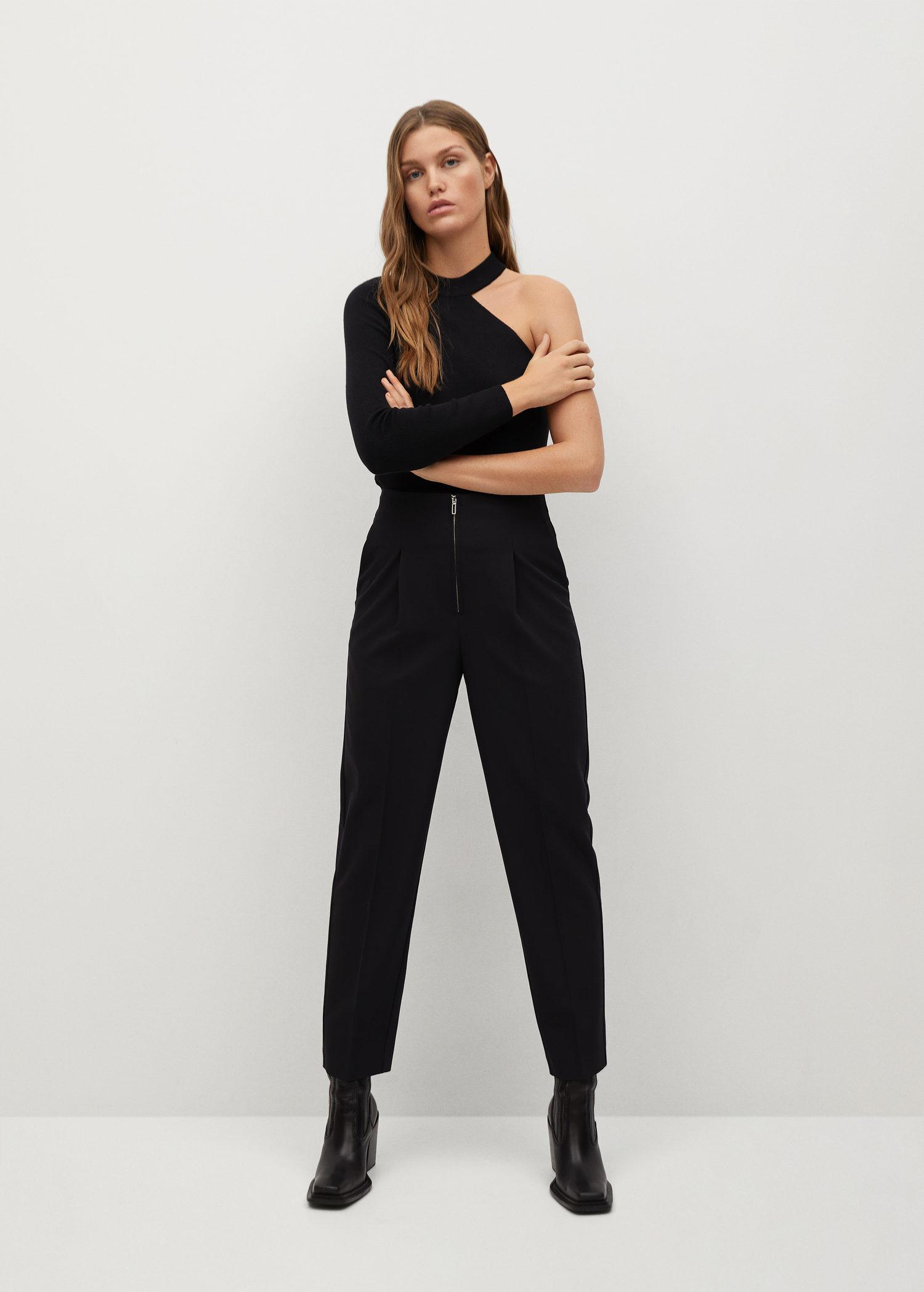 Pleated pants with zip 1
