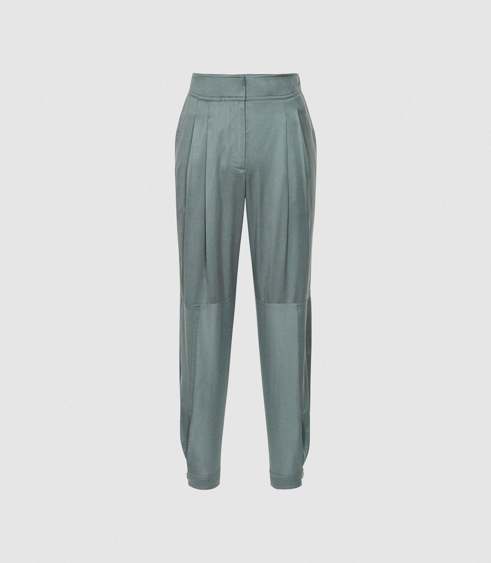 MARLOW - PLEAT FRONT TAPERED PANTS 4