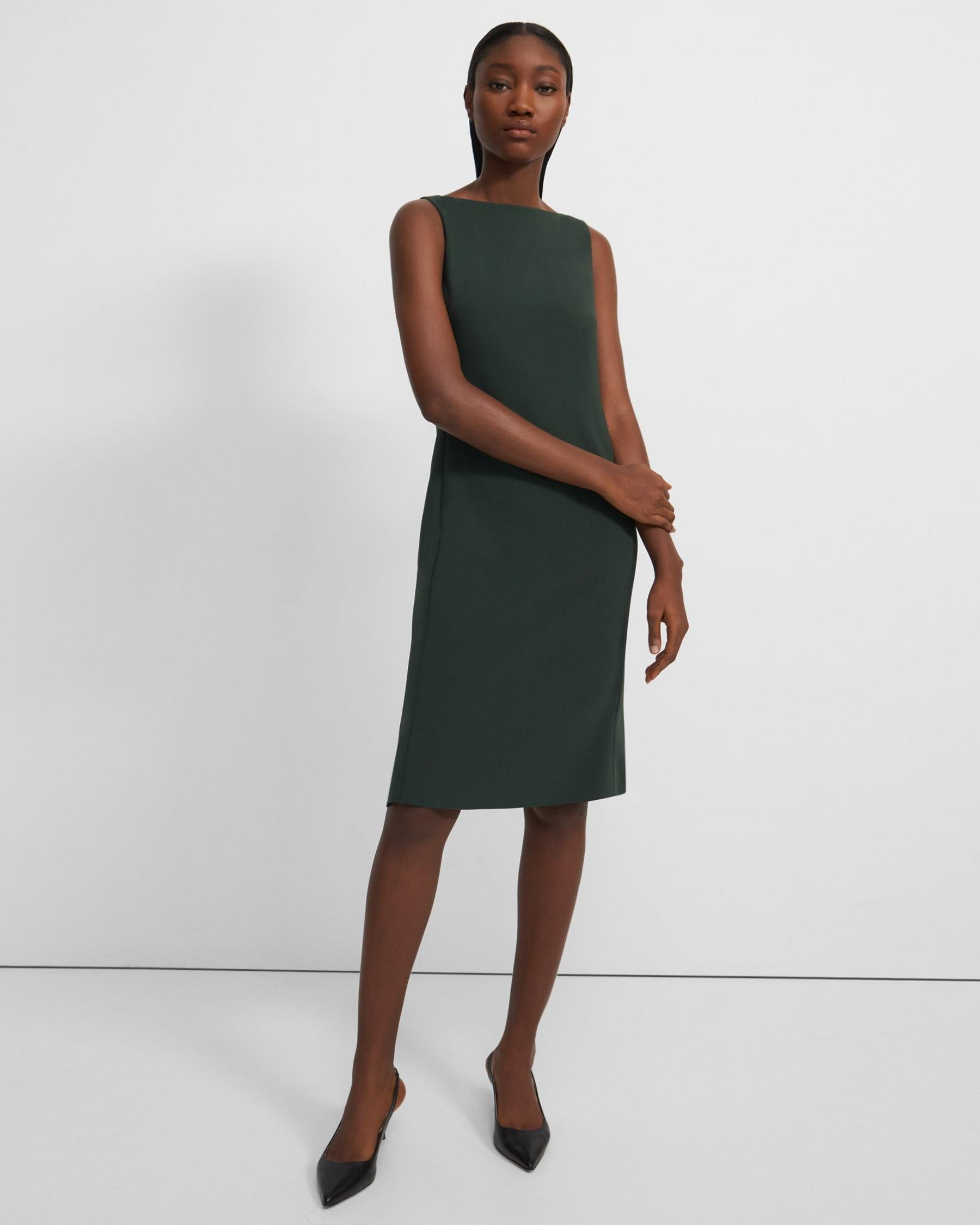 Flared Dress in Crepe 3