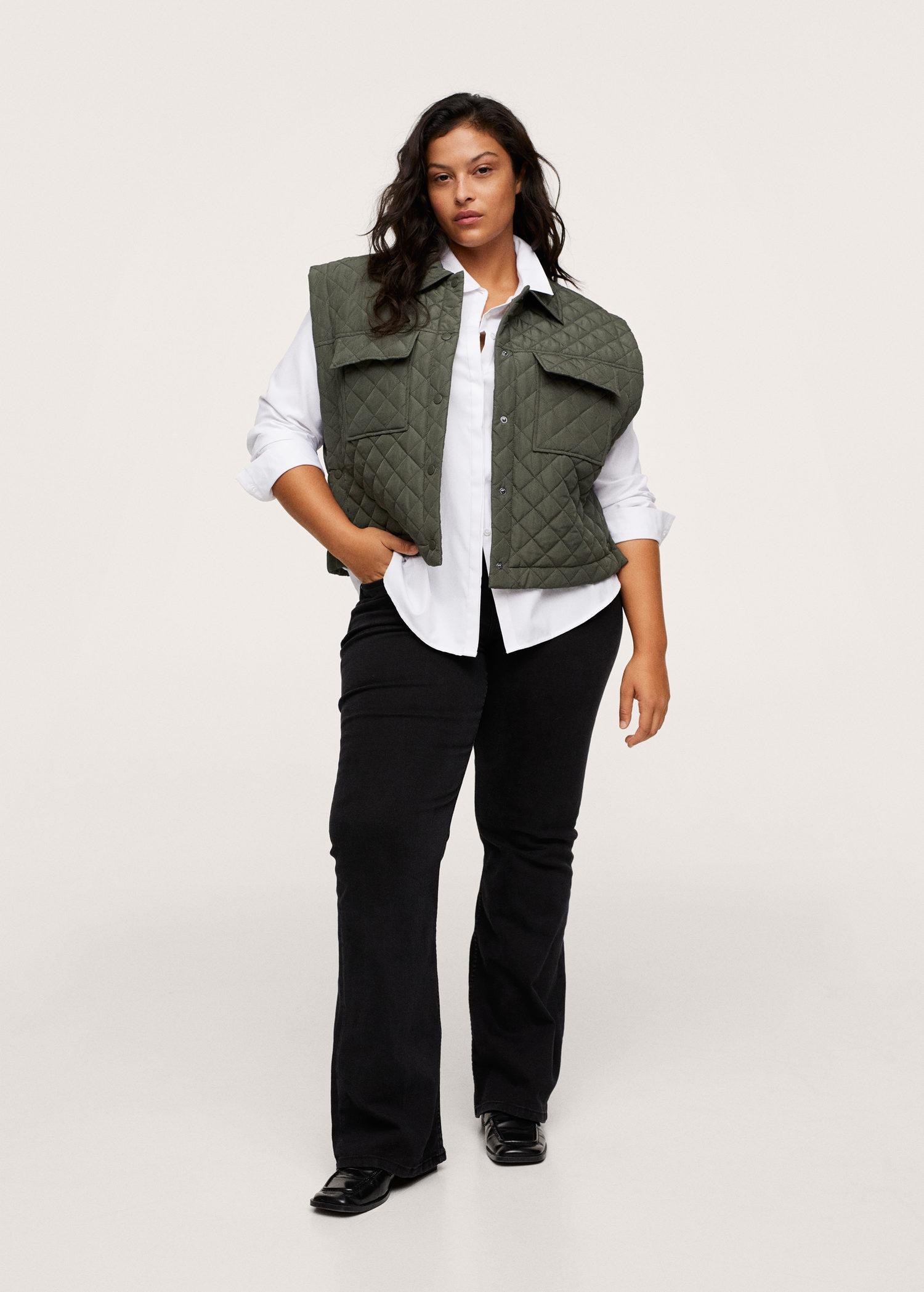 Pocketed quilted gilet