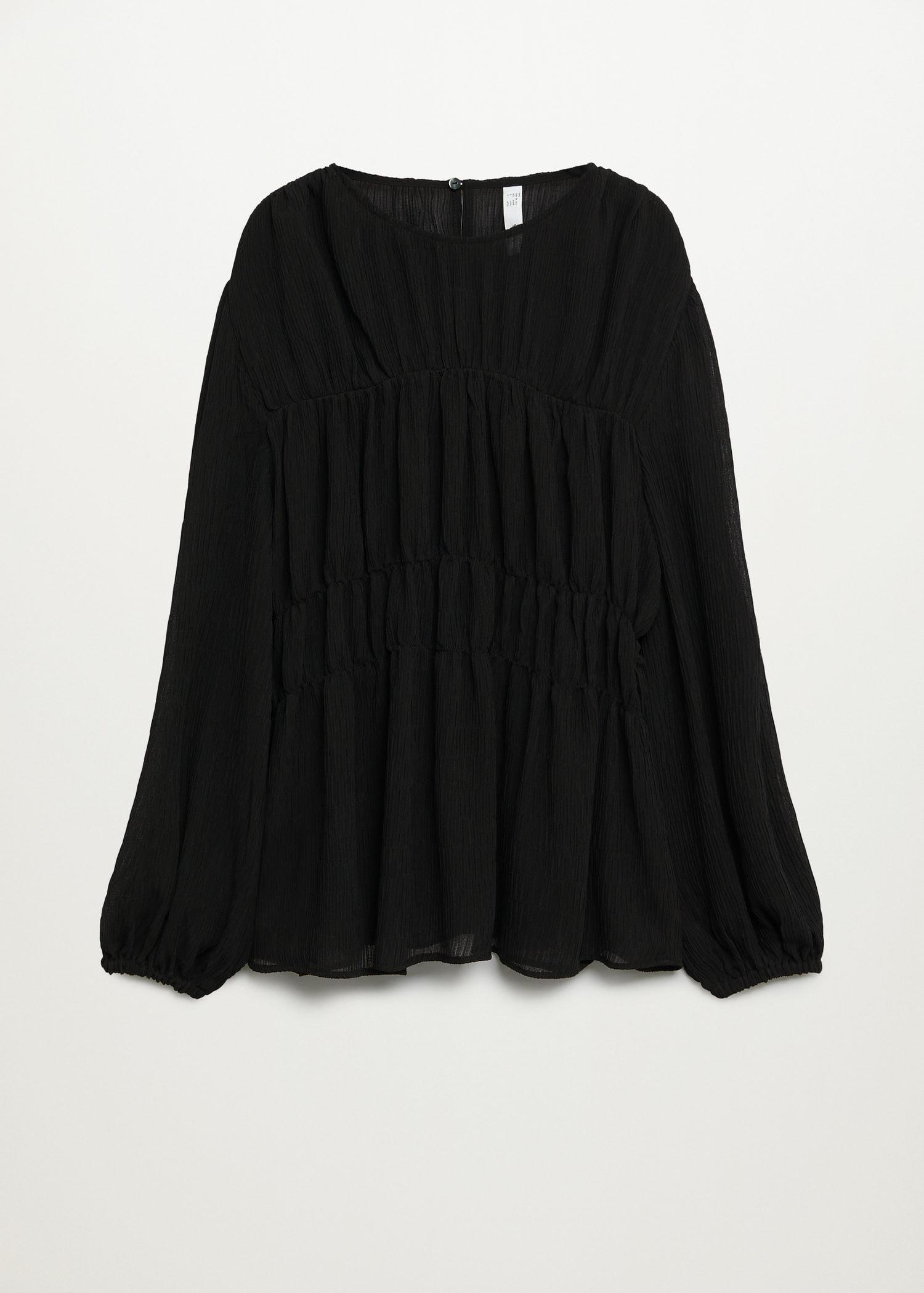 Pleated-texture blouse 6