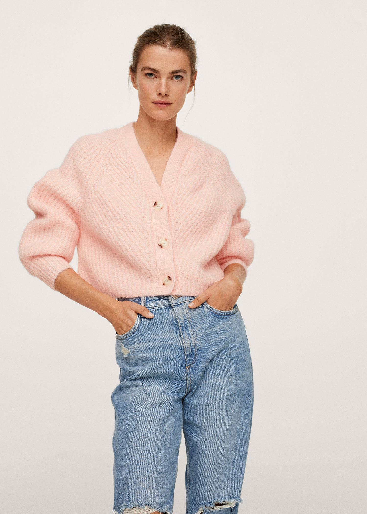 Knitted cropped cardigan