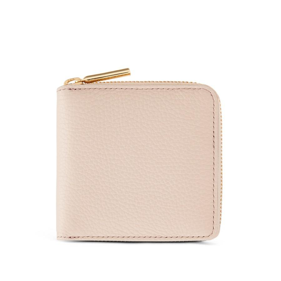 Women's Small Classic Zip Around Wallet in Blush Pink | Pebbled Leather by Cuyana