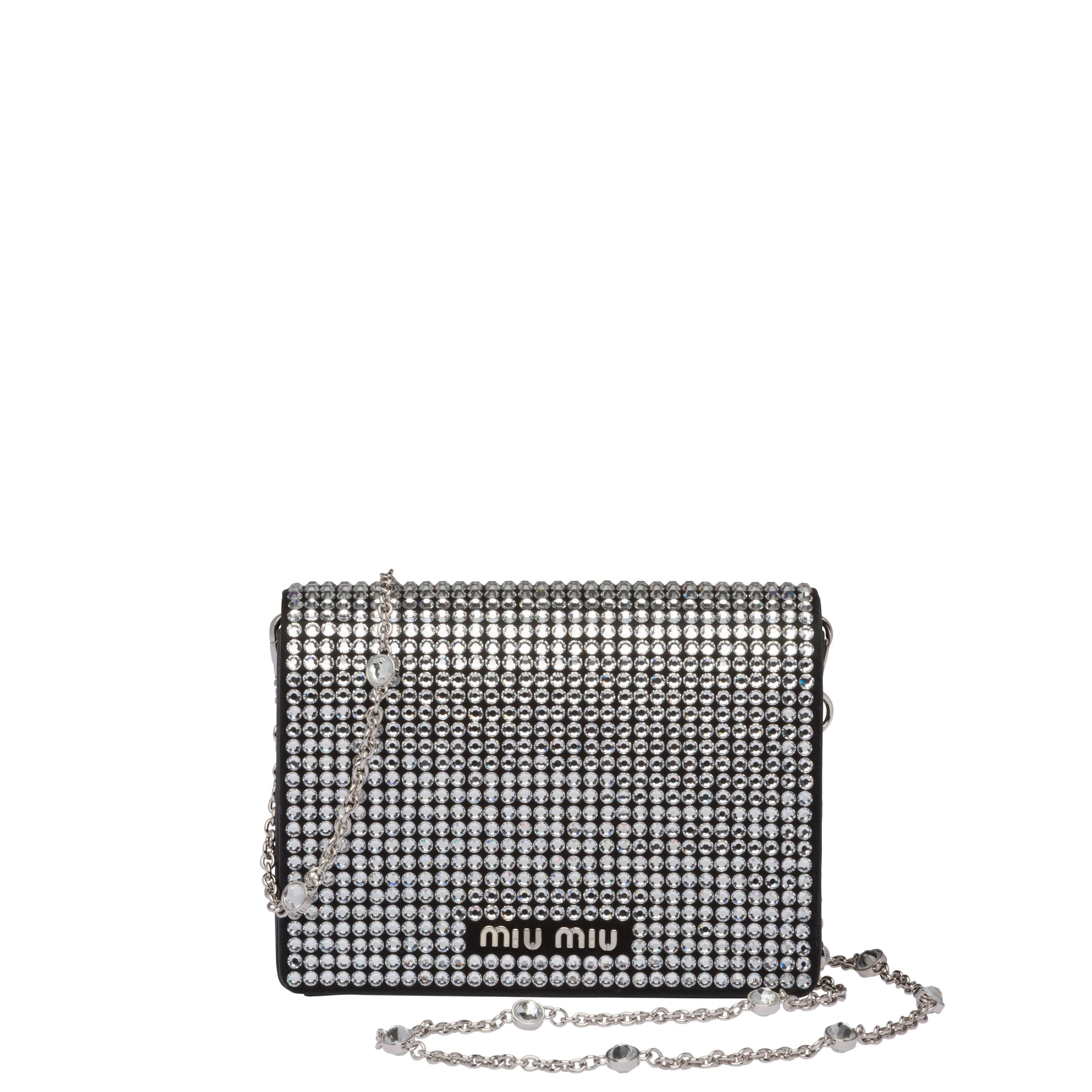 Nappa Leather Mini-bag With Crystals Women Black