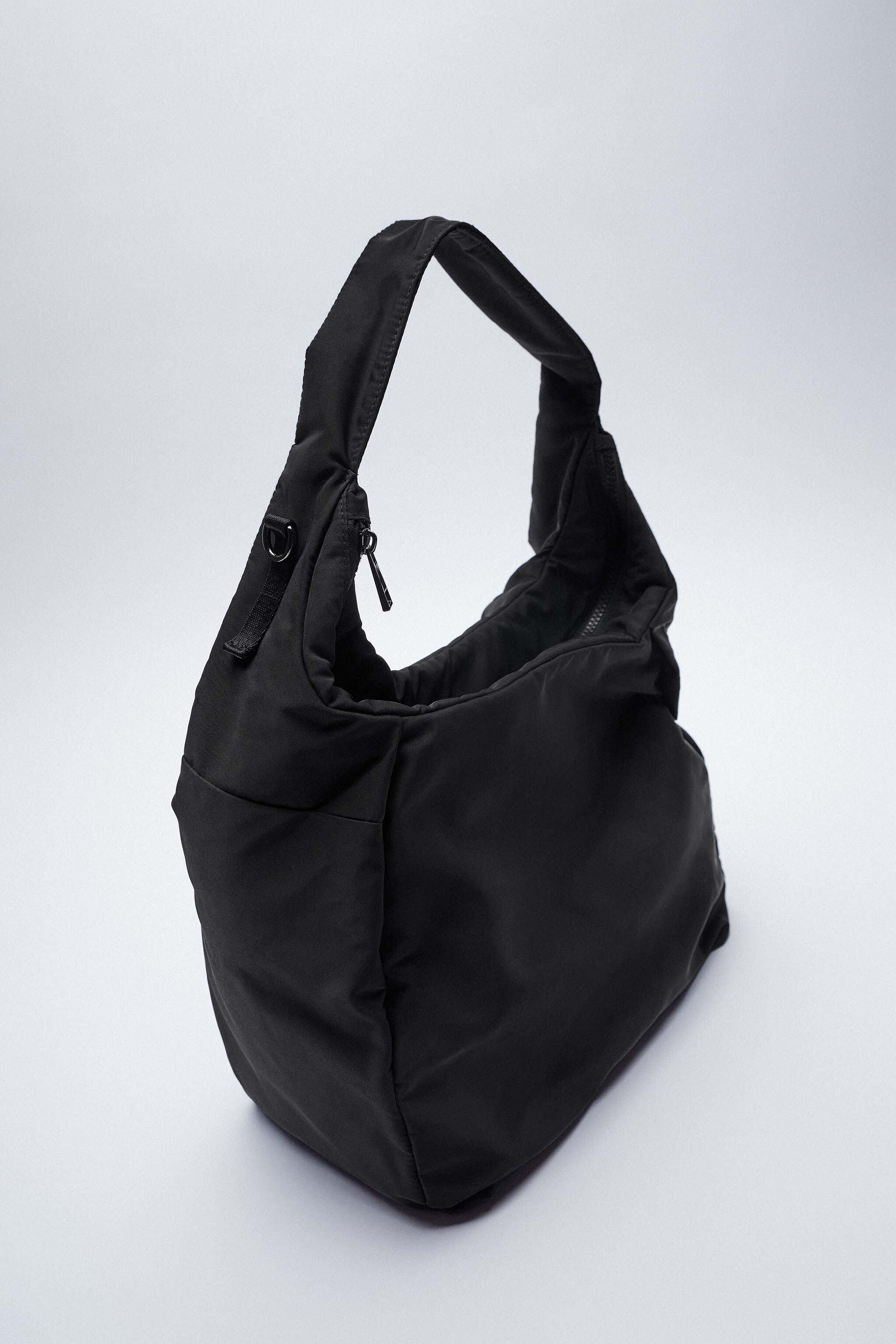 NYLON TOTE BAG WITH TEXT DETAIL 4
