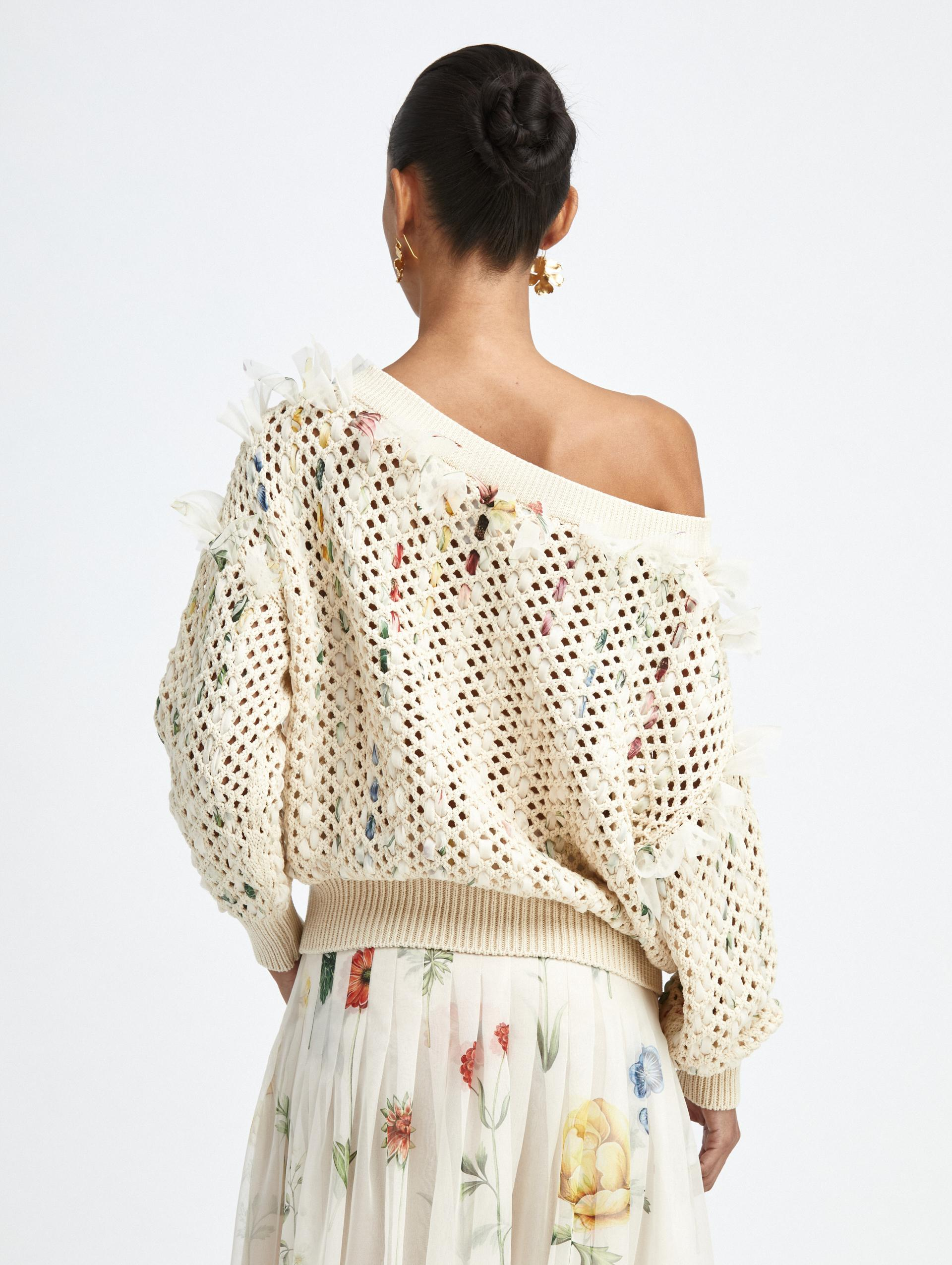 CROCHETED KNIT PULLOVER 2